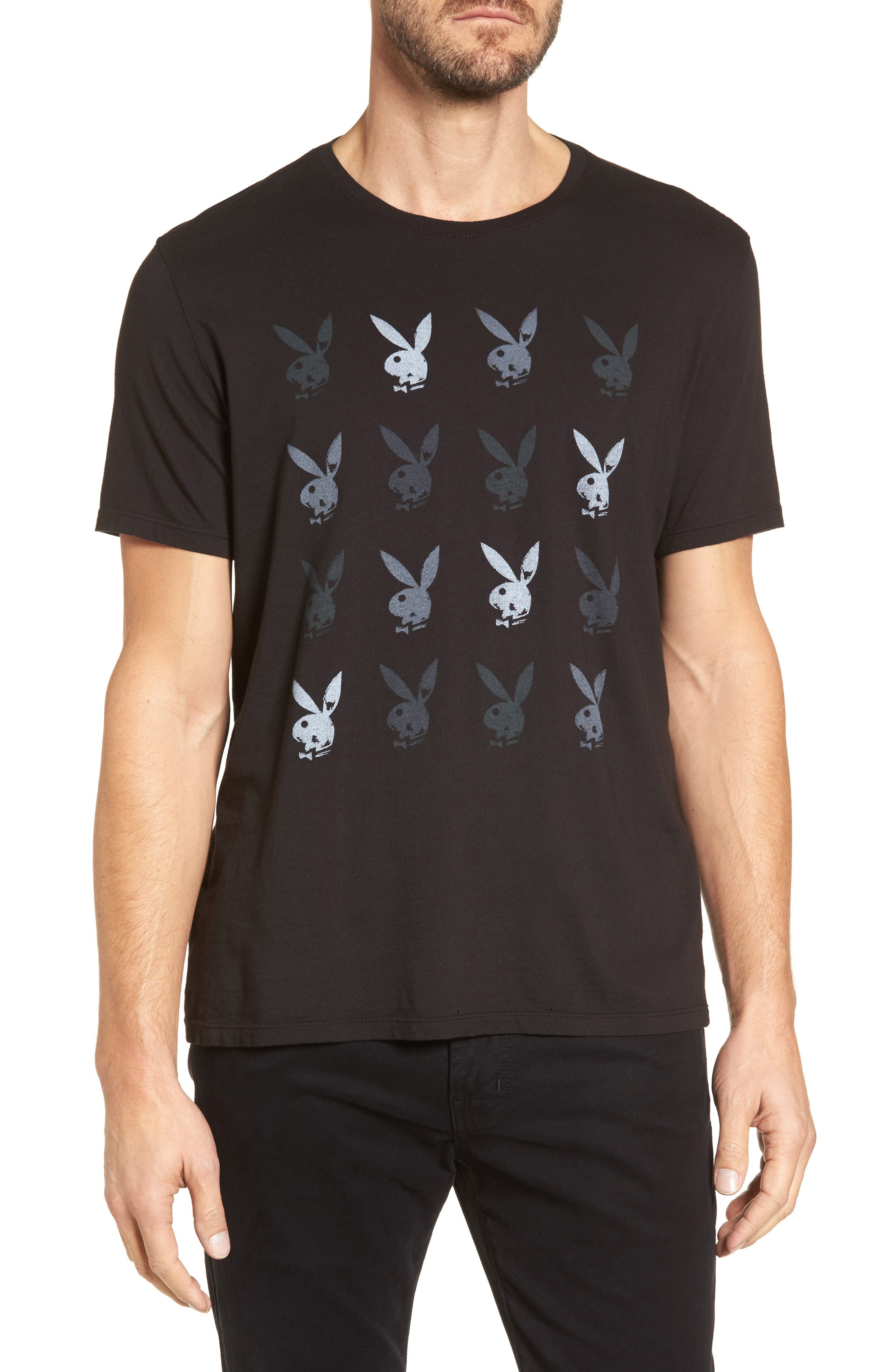 Playboy Rows Graphic T-Shirt,                         Main,                         color, 001