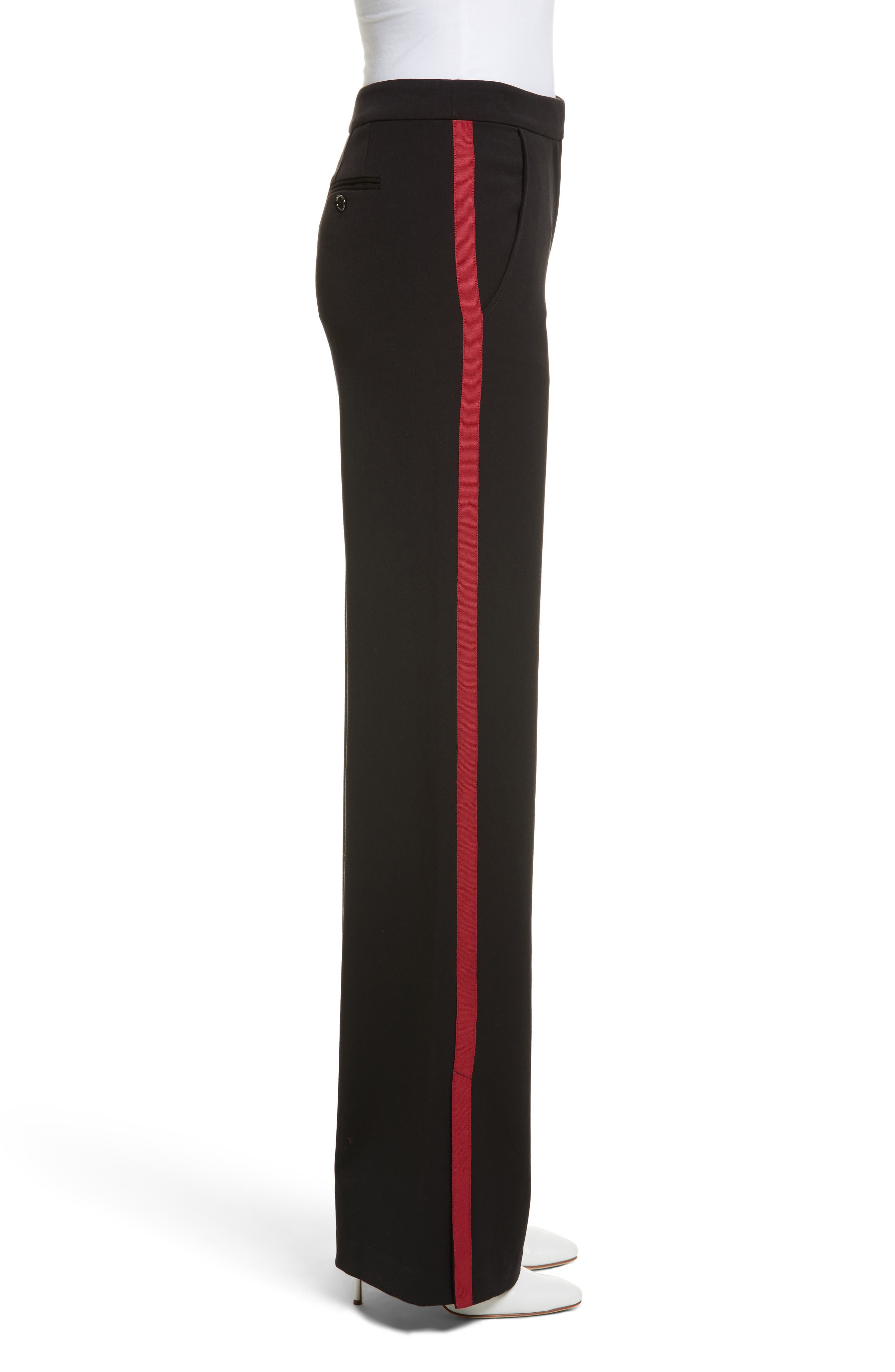 Side Vent Wide Leg Pants,                             Alternate thumbnail 3, color,                             001