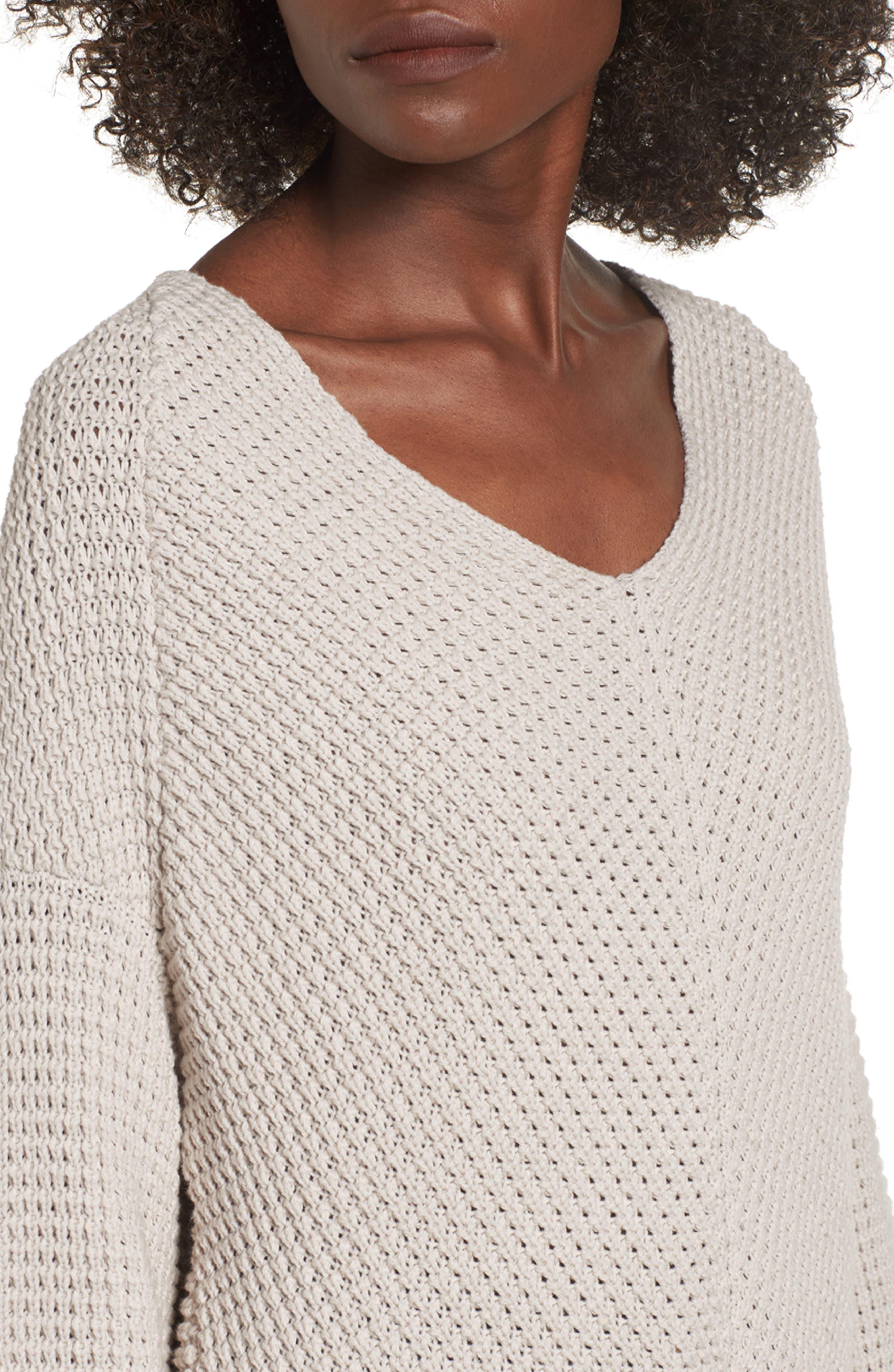Adelia Bell Sleeve Sweater,                             Alternate thumbnail 4, color,                             900