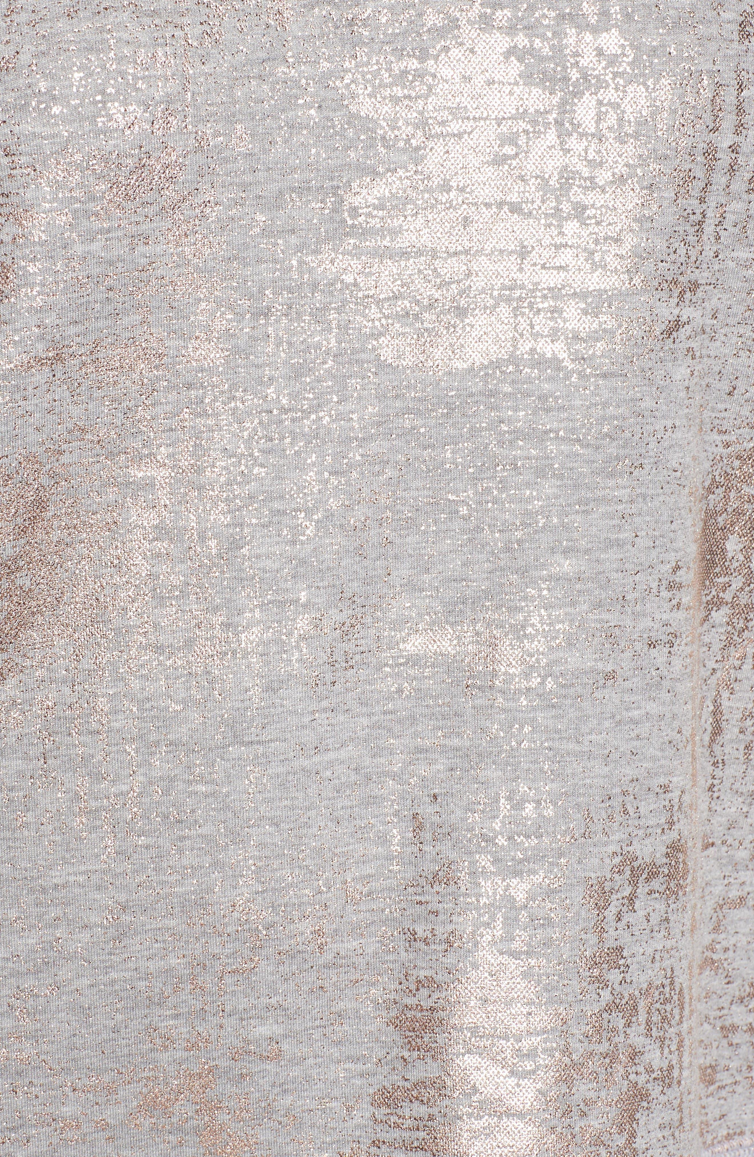 Foiled Sweatshirt,                             Alternate thumbnail 5, color,                             020