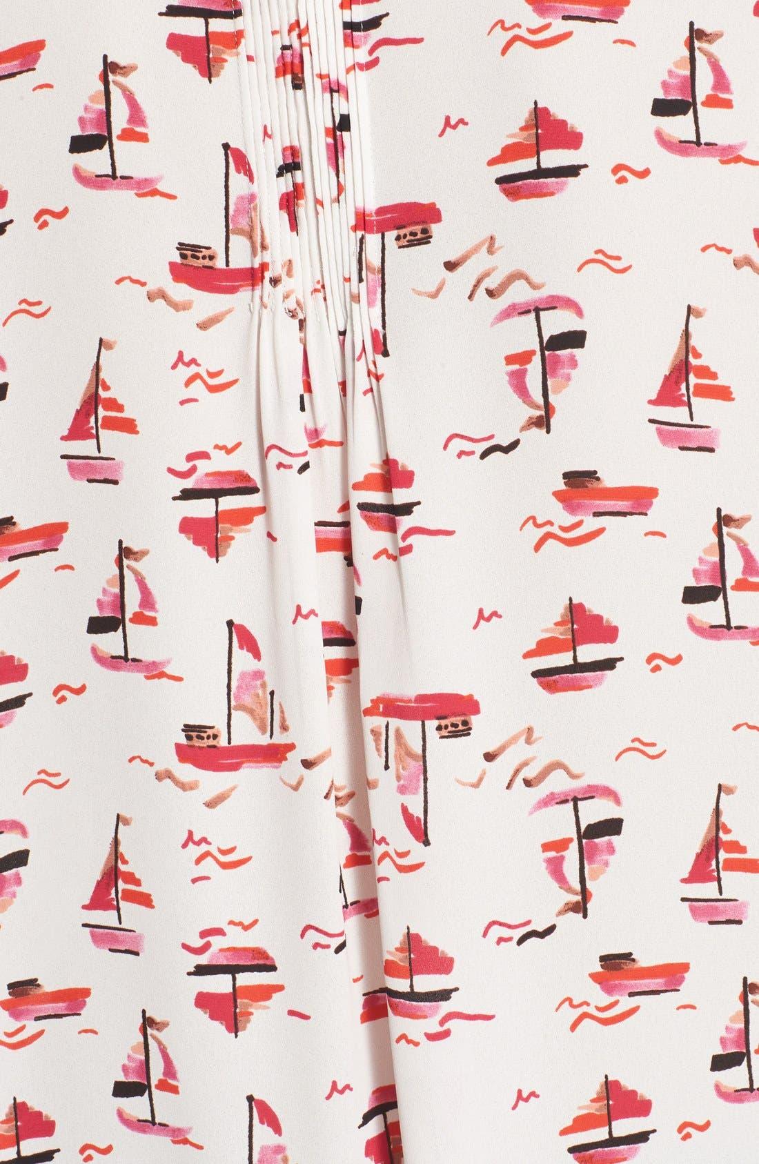 Pleat Back Sleeveless Split Neck Blouse,                             Alternate thumbnail 119, color,