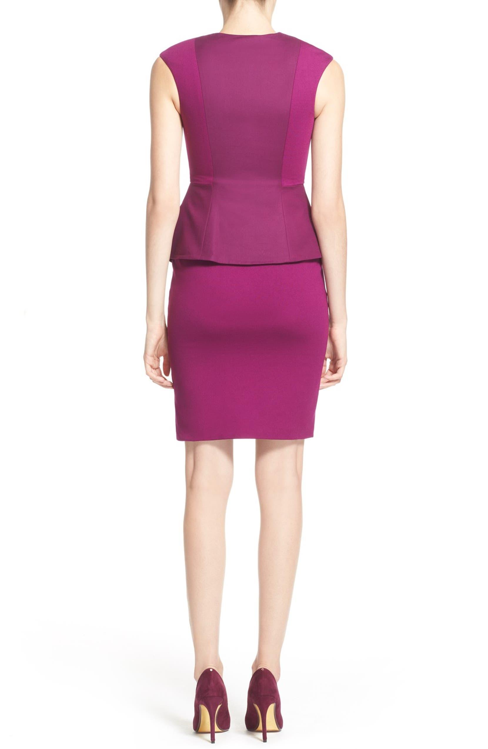 4a91e8a66 Ted Baker London  Jamthun  Structured Peplum Cotton Blend Sheath Dress