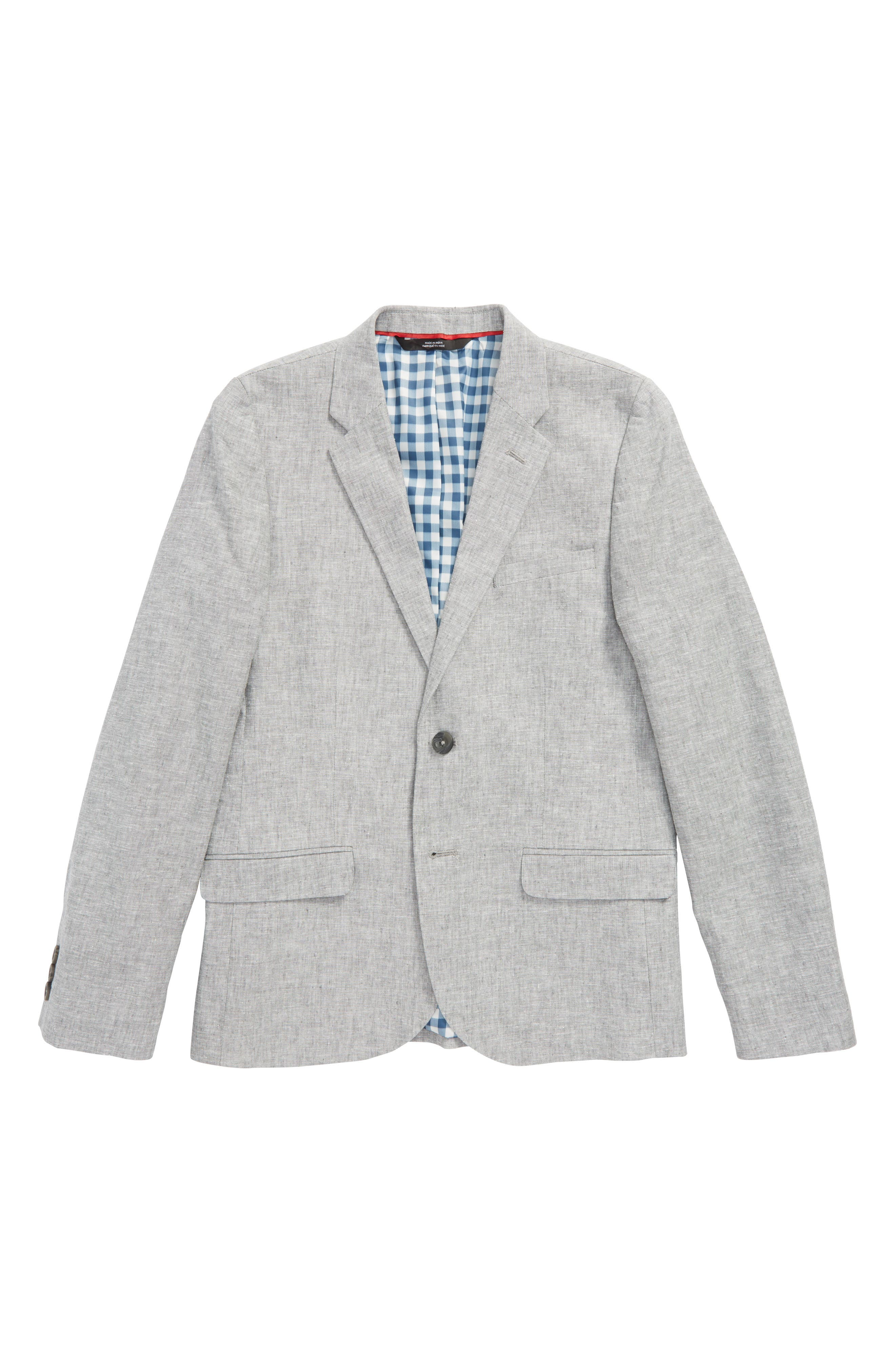 NORDSTROM Elliott Linen & Cotton Blazer, Main, color, 030