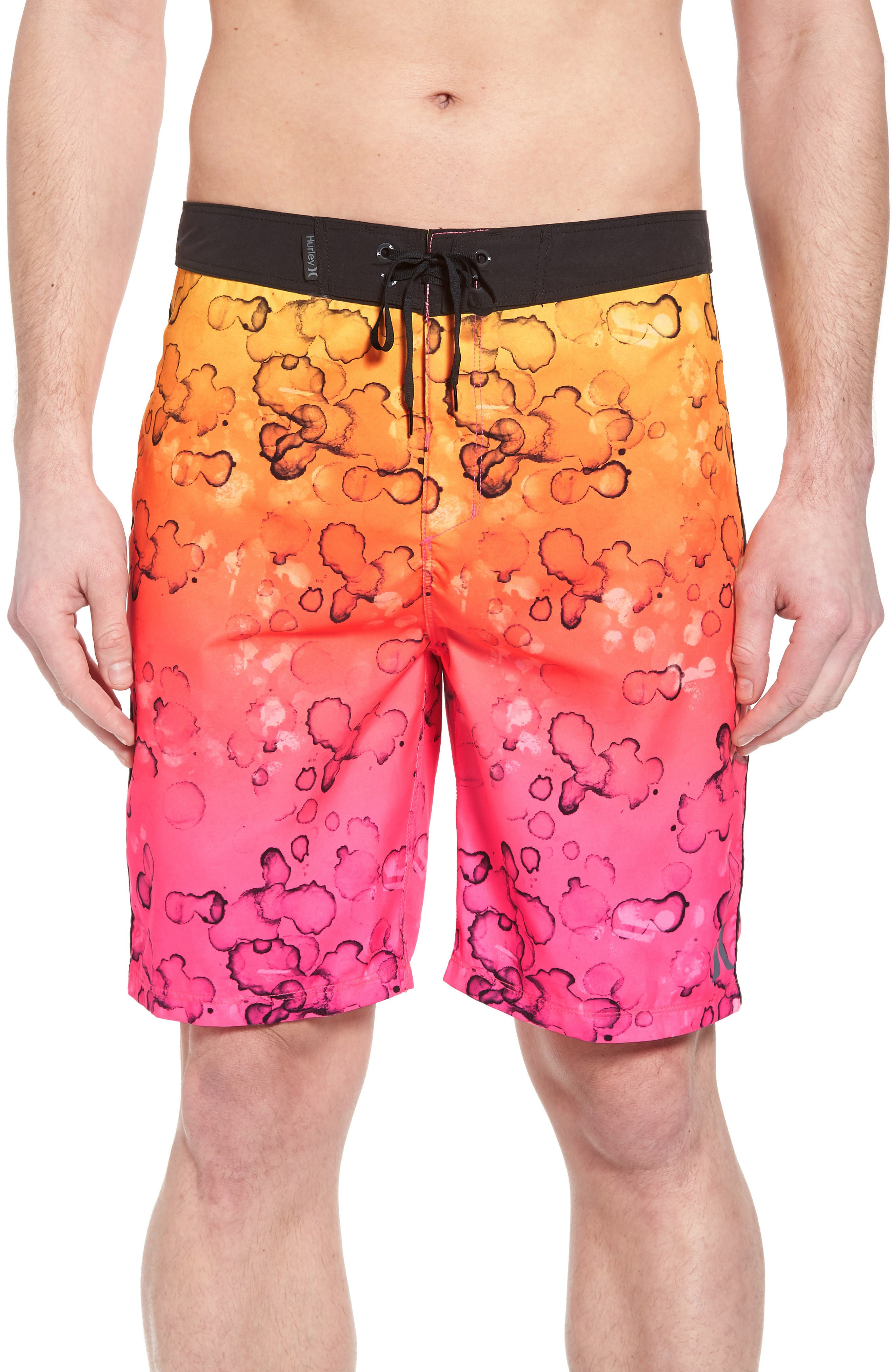 Splatter Grain Board Shorts,                         Main,                         color, 682