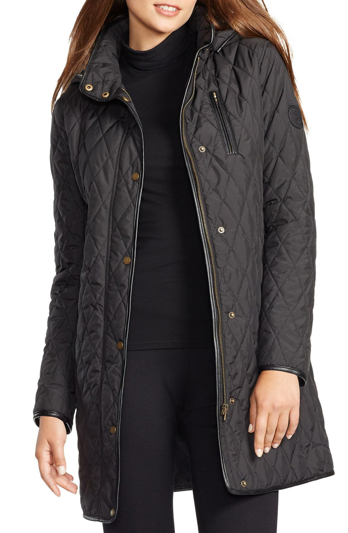 LAUREN RALPH LAUREN Quilted Jacket, Main, color, 001