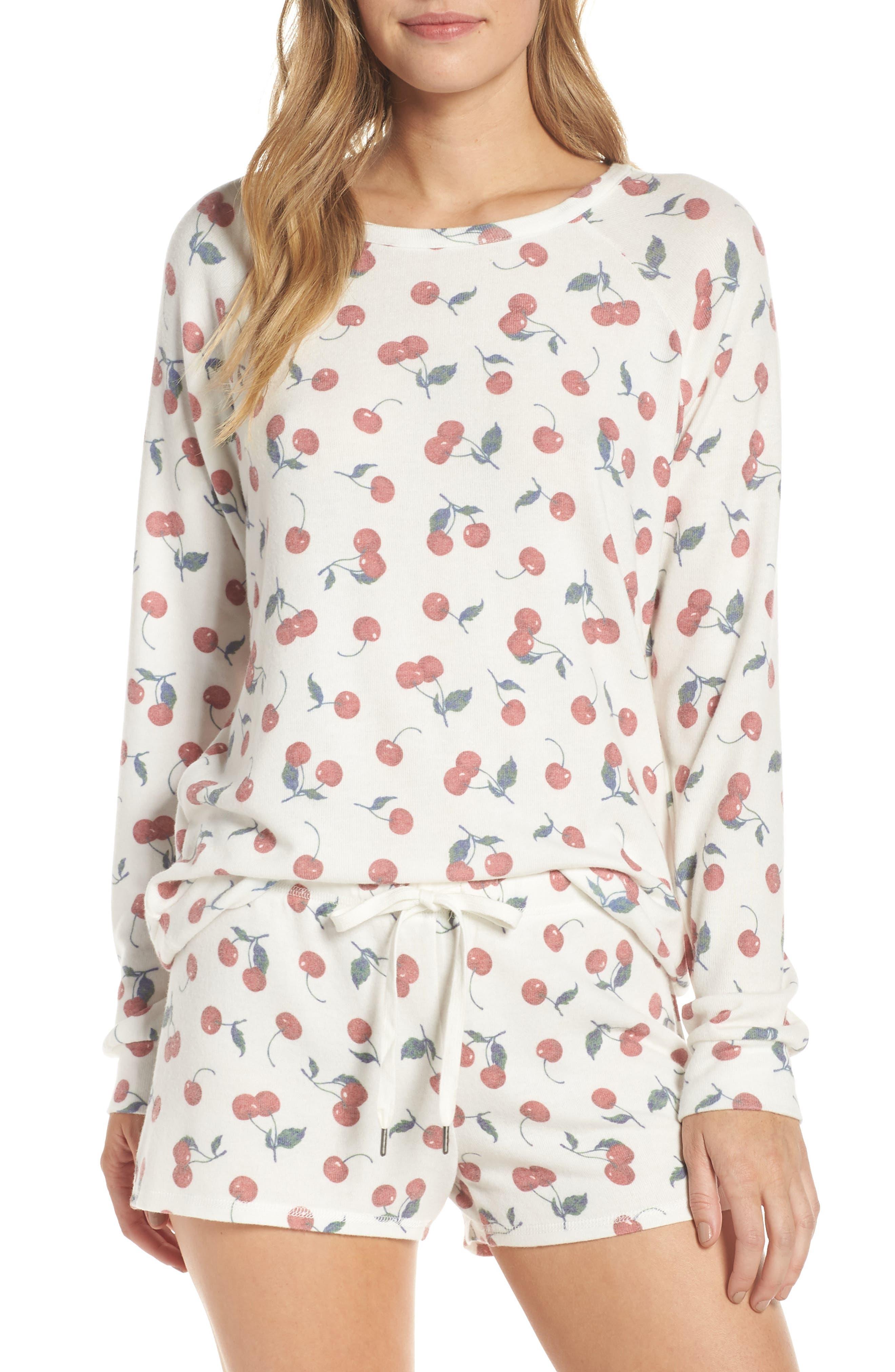 Pj Savlage Mon Cheri Pajama Top, Ivory