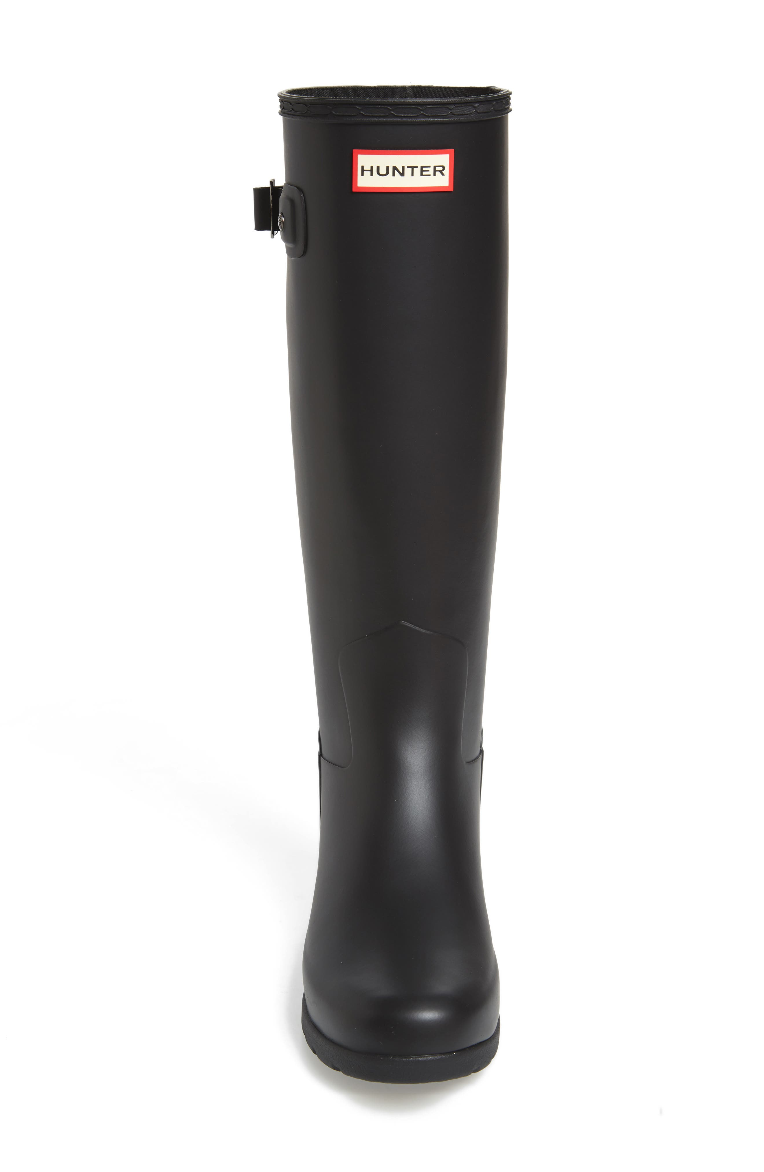 Original Refined Rain Boot,                             Alternate thumbnail 4, color,                             BLACK