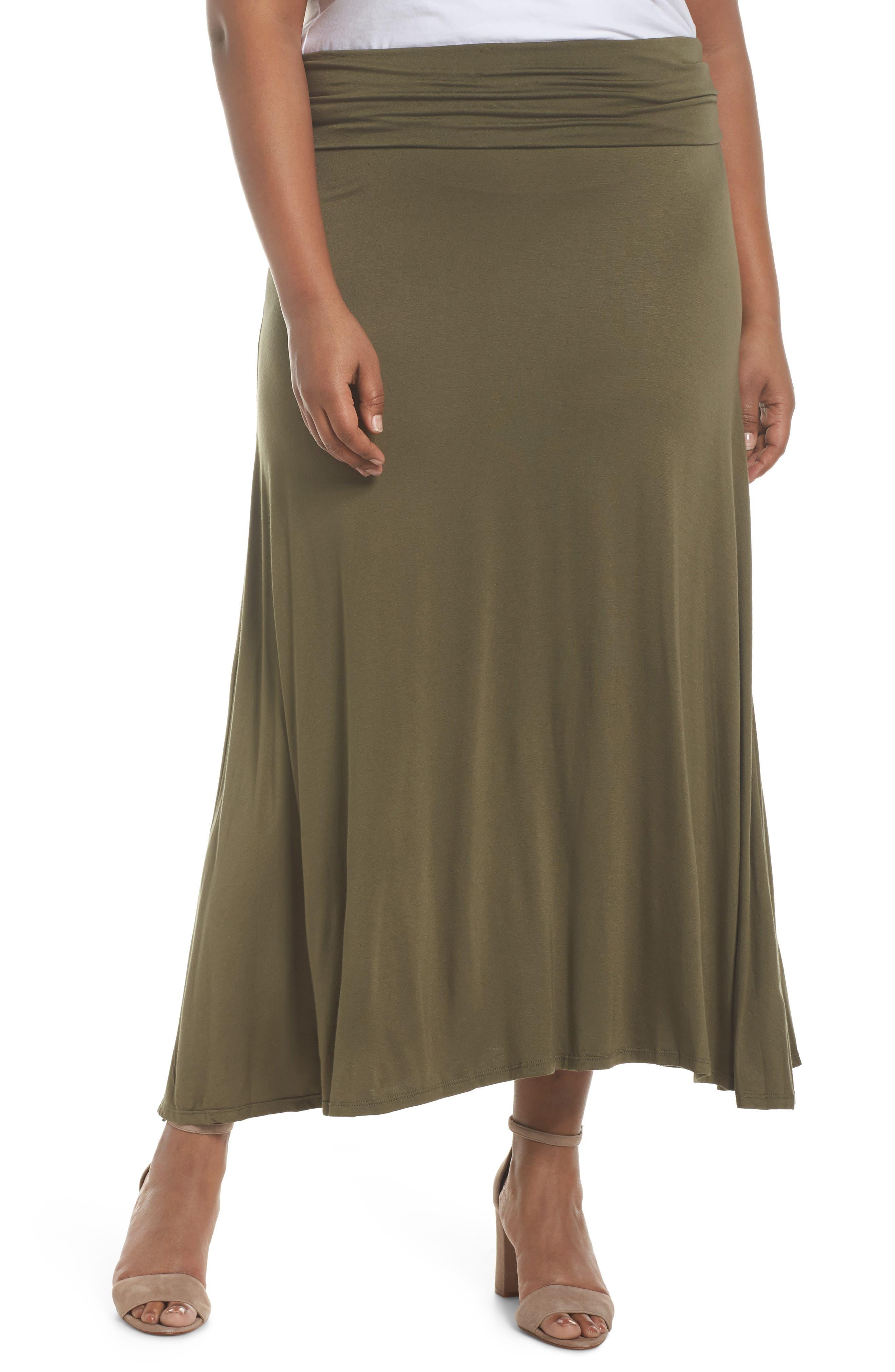 Foldover Knit Skirt,                             Main thumbnail 2, color,