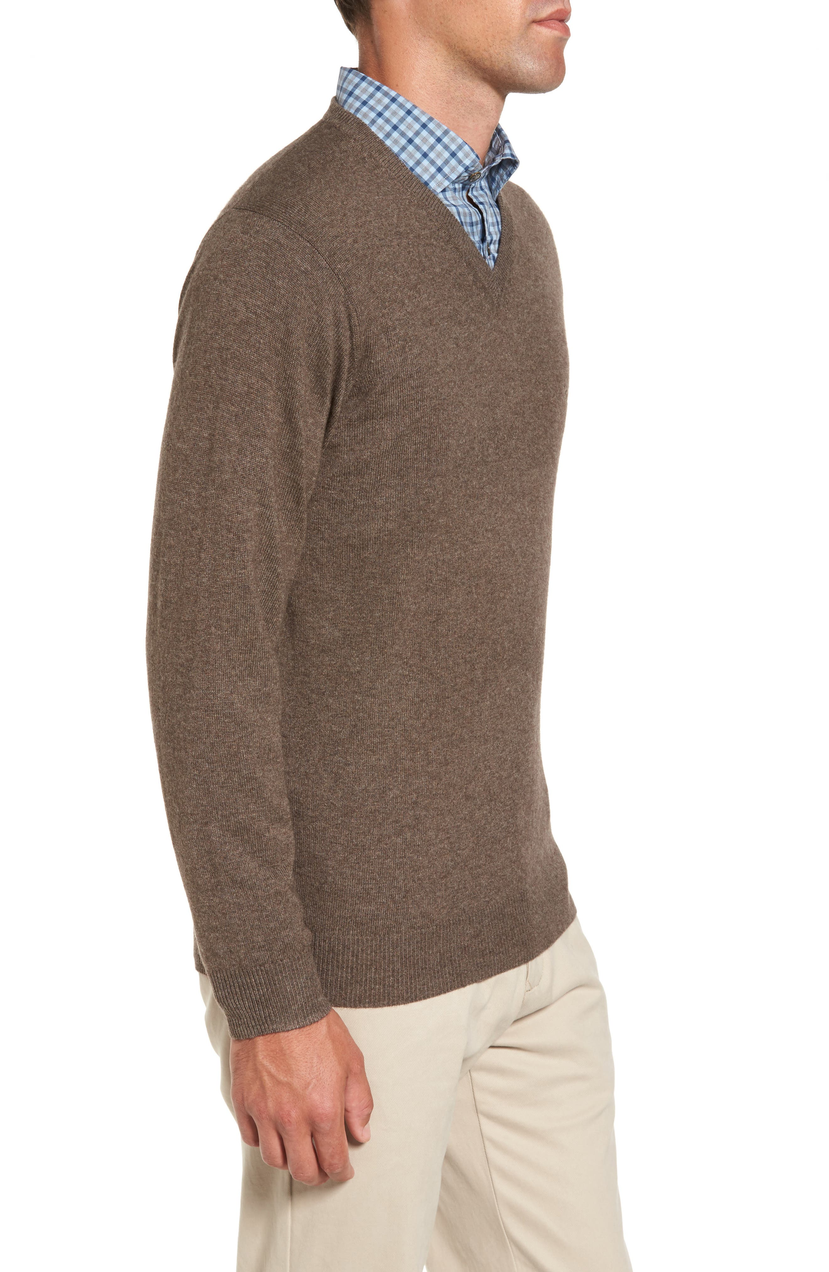 'Inchbonnie' Wool & Cashmere V-Neck Sweater,                             Alternate thumbnail 3, color,                             218