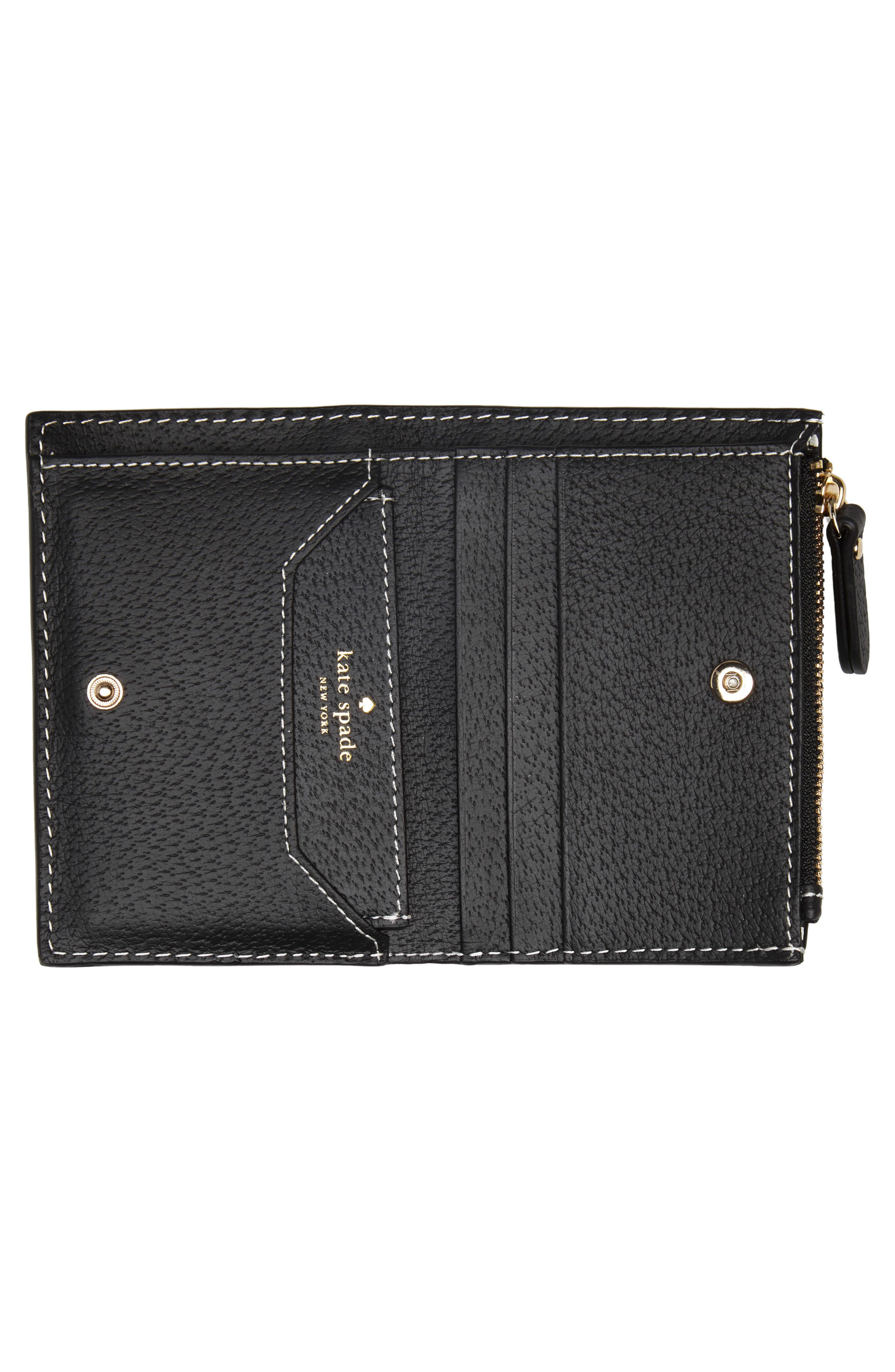 thompson street – abri leather wallet,                             Alternate thumbnail 2, color,                             001