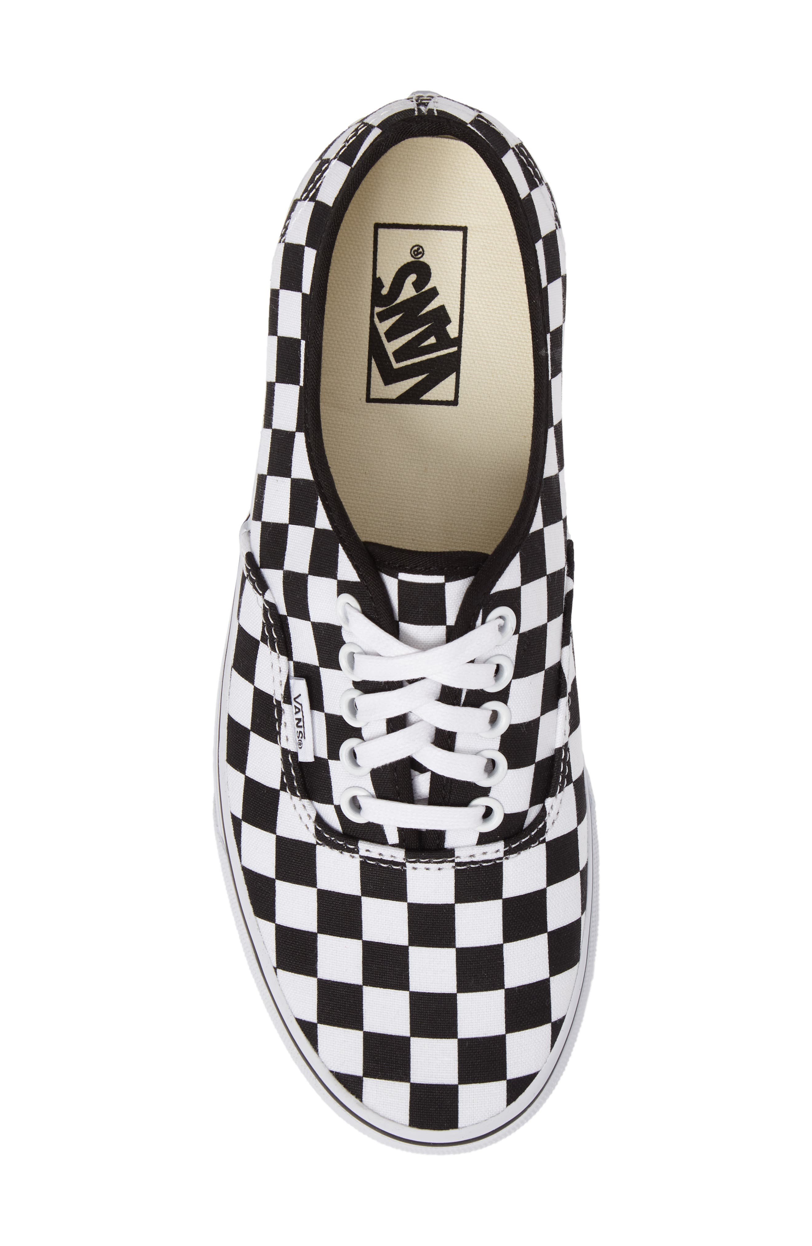 Authentic Sneaker,                             Alternate thumbnail 5, color,                             BLACK/ WHITE CHECKERBOARD