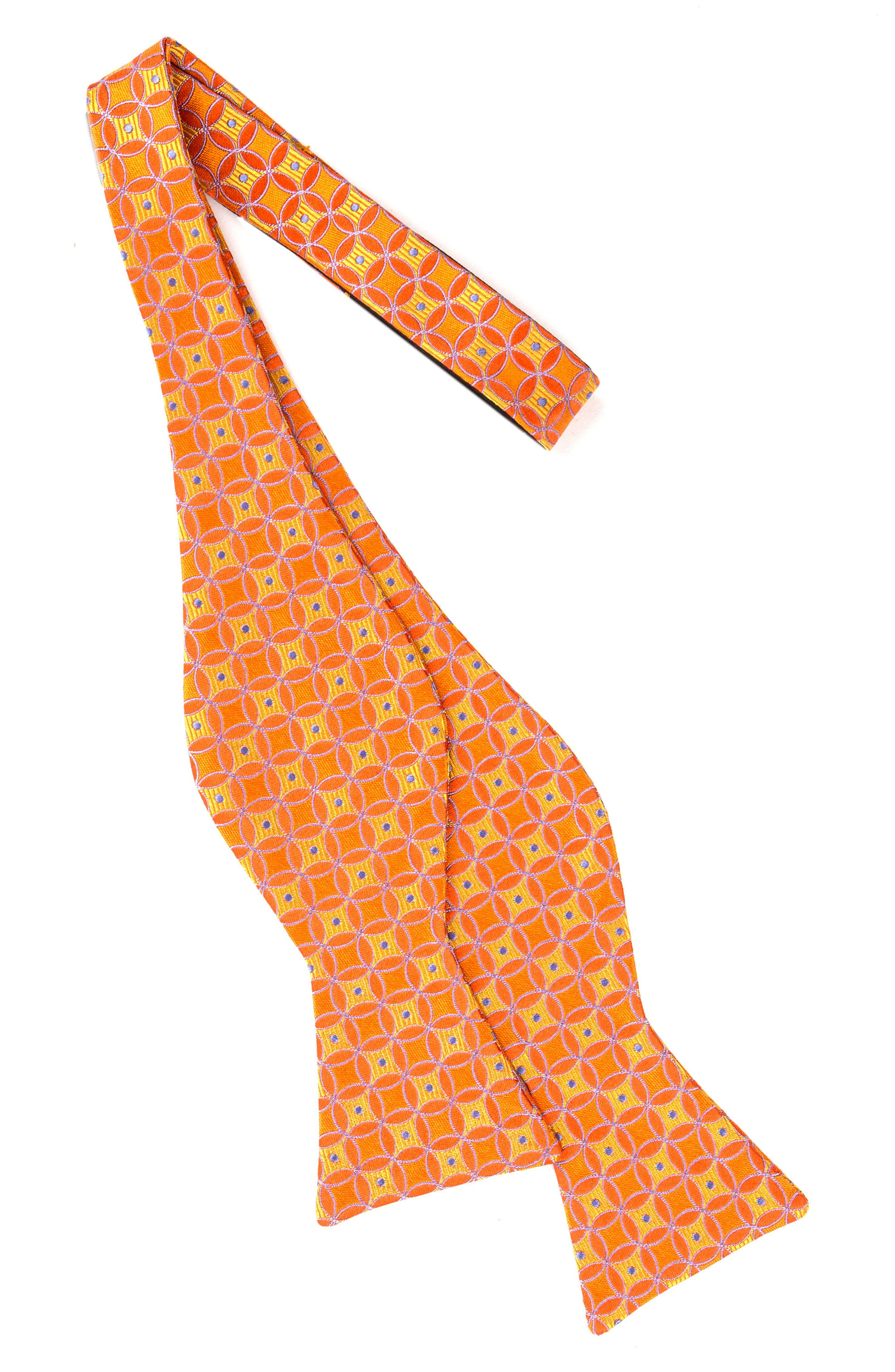 Park Lane Geometric Silk Bow Tie,                             Alternate thumbnail 6, color,