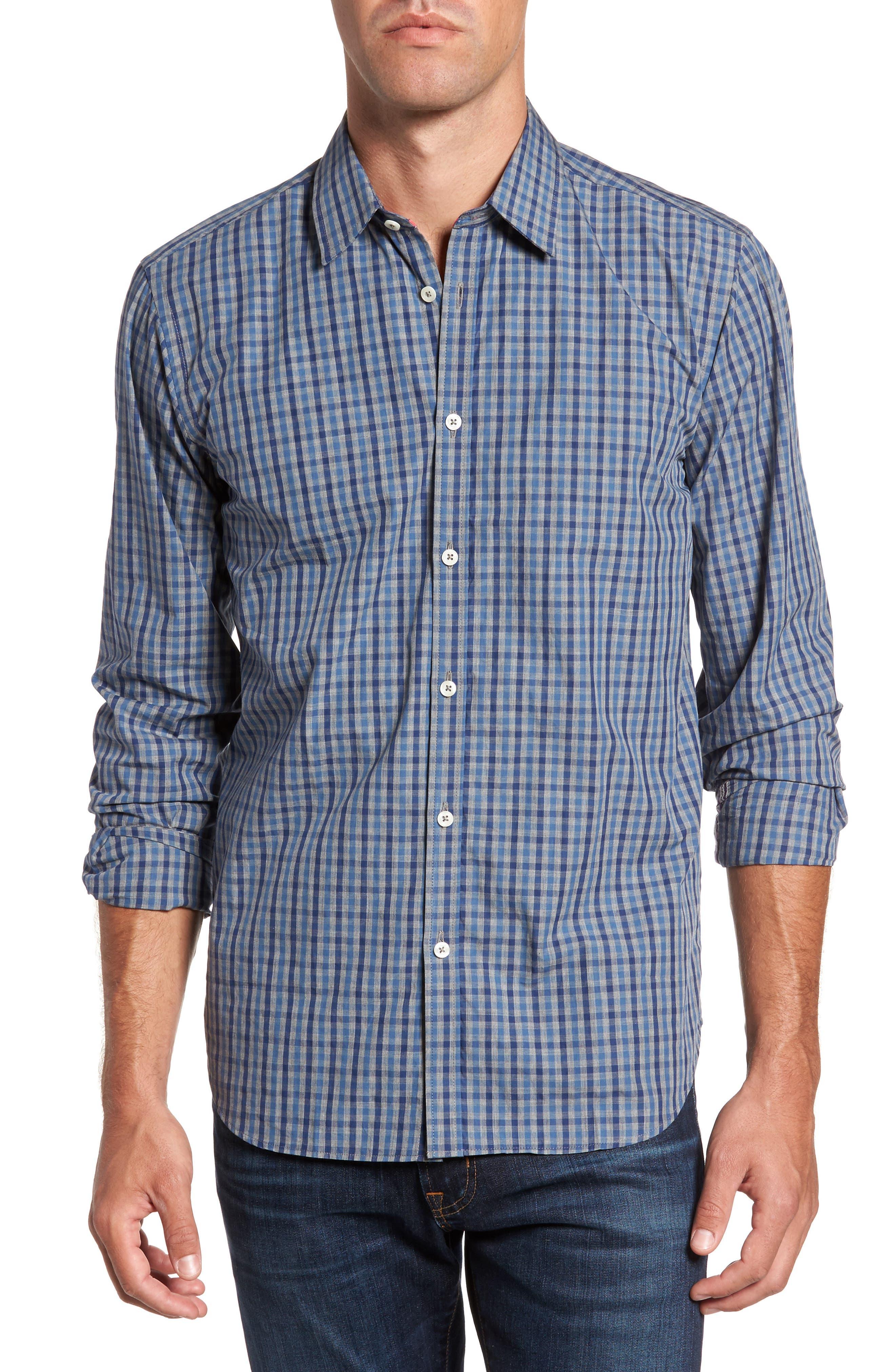 Slim Fit Check Sport Shirt,                         Main,                         color, 024