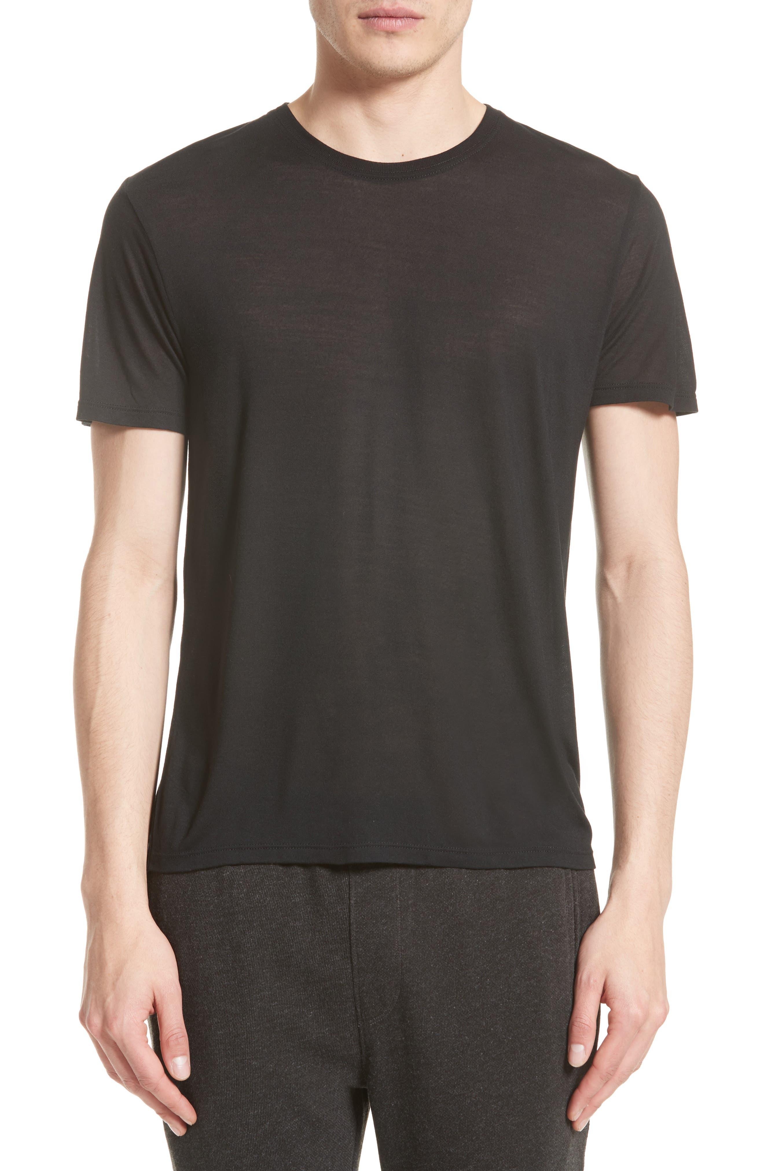 T-Shirt,                         Main,                         color, BLACK