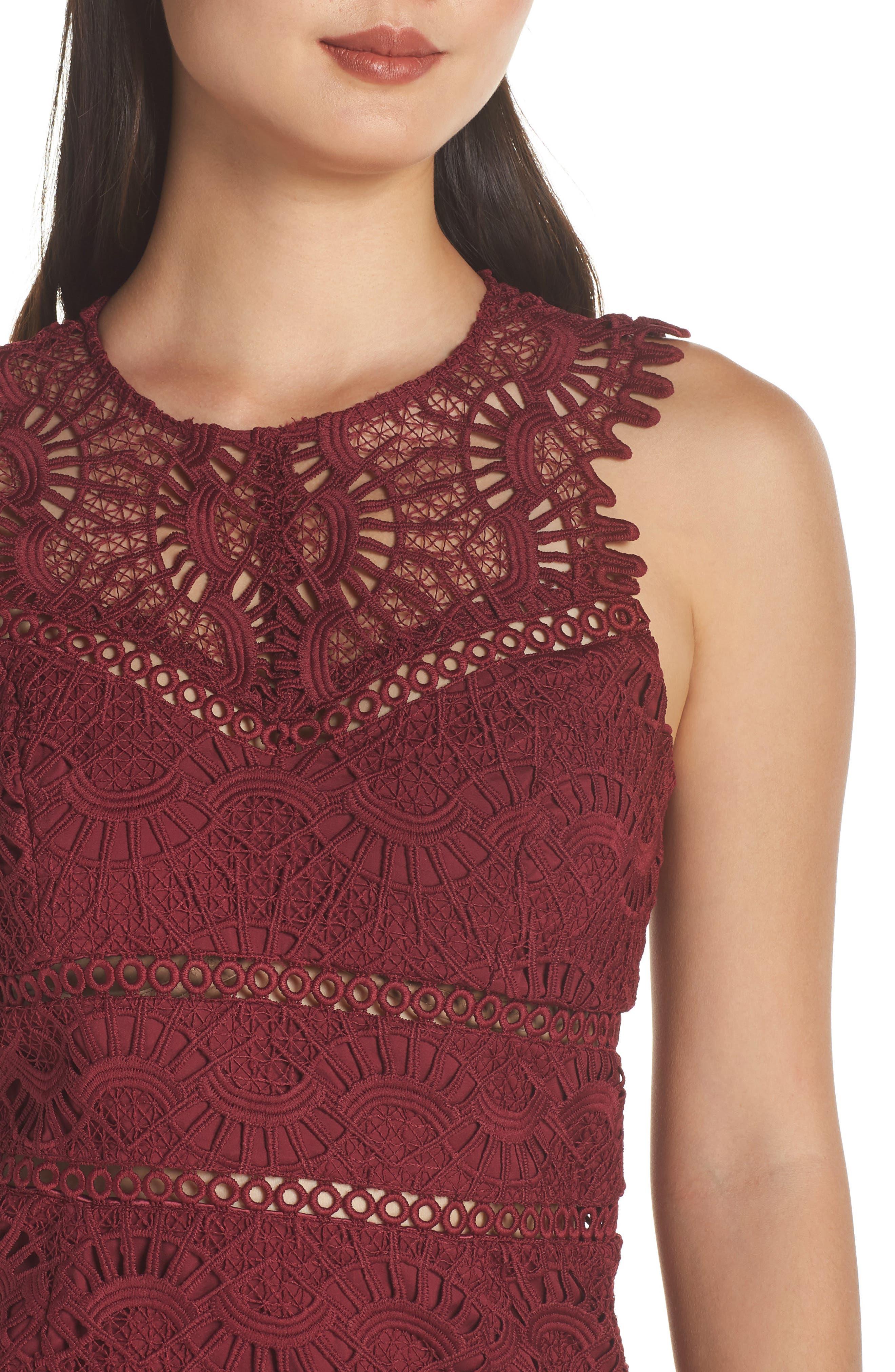 Mariano Lace Sheath Dress,                             Alternate thumbnail 4, color,                             601