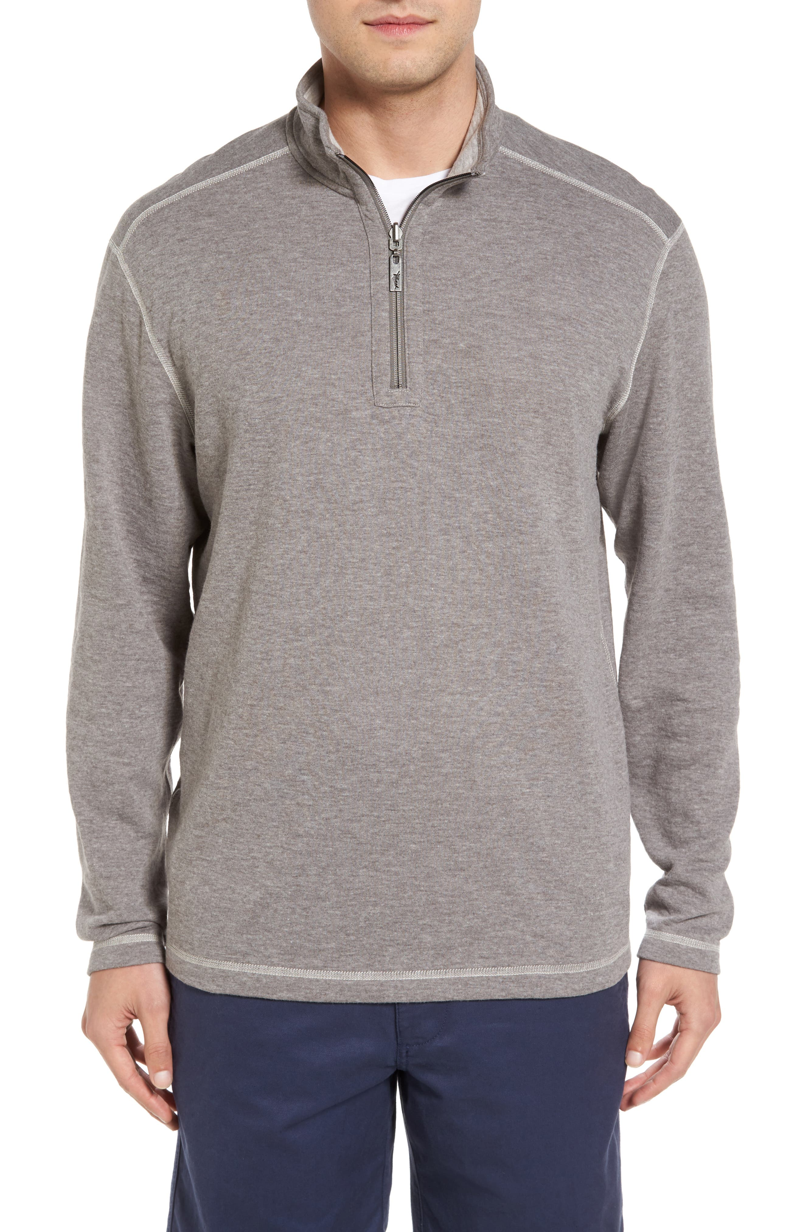 Sea Glass Reversible Quarter Zip Pullover,                             Alternate thumbnail 34, color,