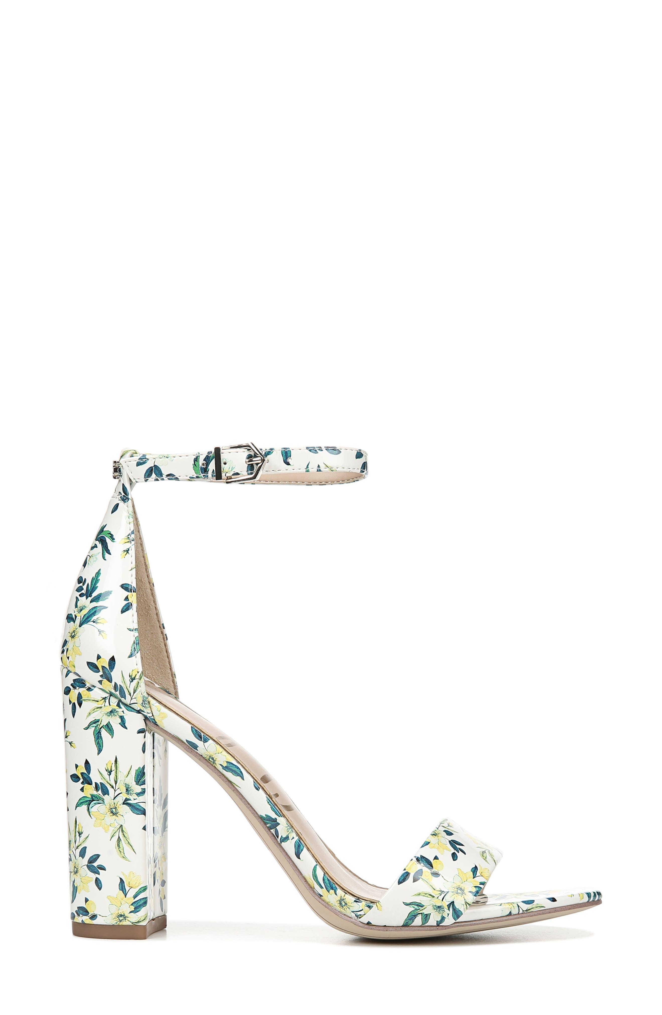 Yaro Ankle Strap Sandal,                             Alternate thumbnail 3, color,                             WHITE MULTI FABRIC
