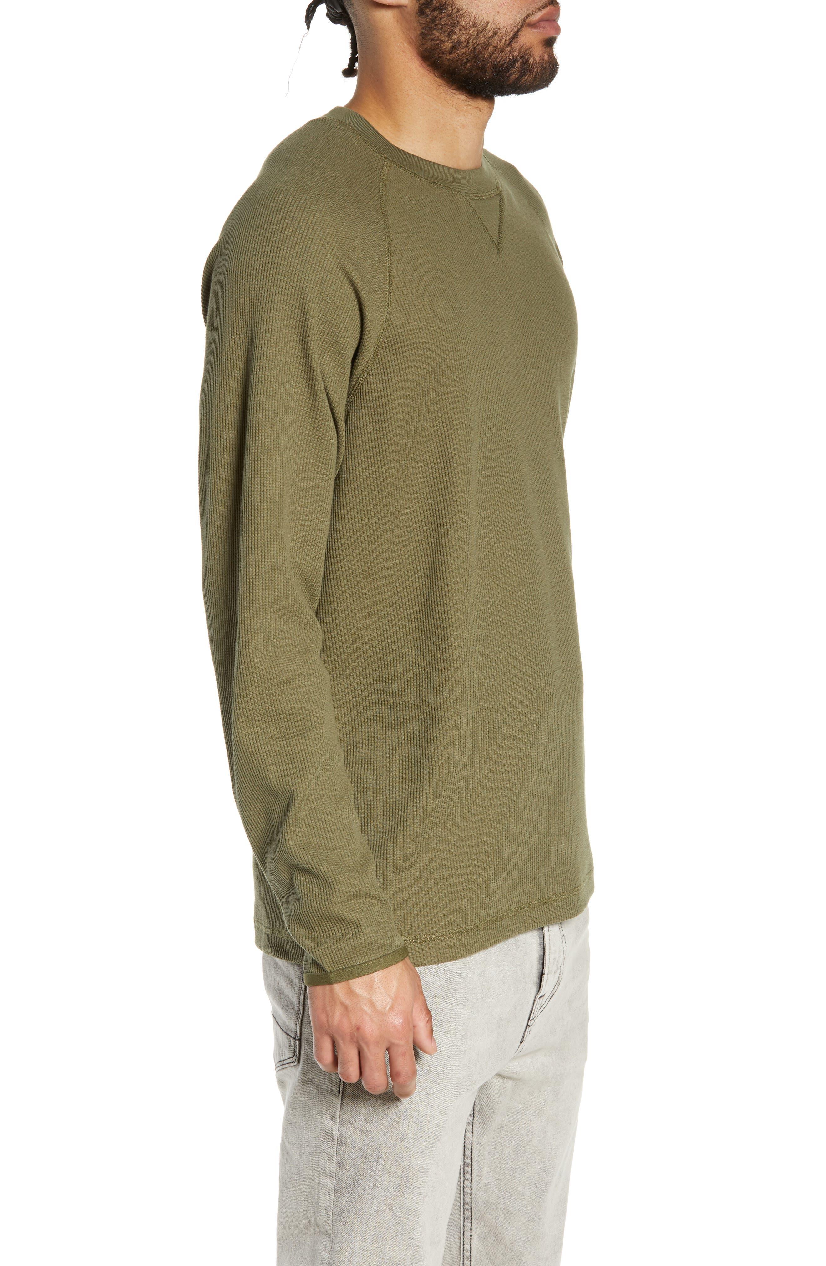 Leeward Thermal Long Sleeve T-Shirt,                             Alternate thumbnail 3, color,                             ROVER GREEN