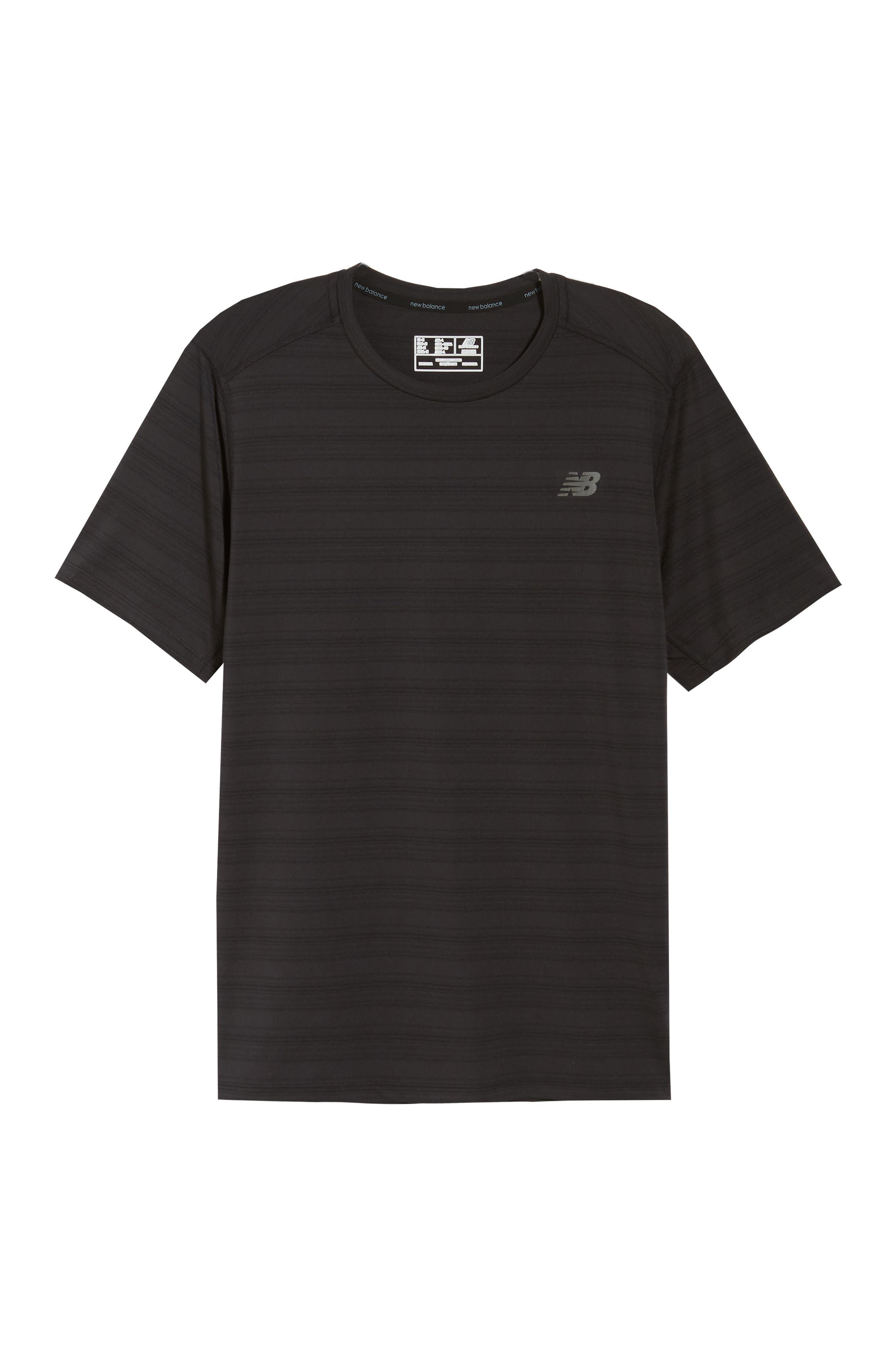Anticipate Performance T-Shirt,                             Alternate thumbnail 6, color,                             BLACK