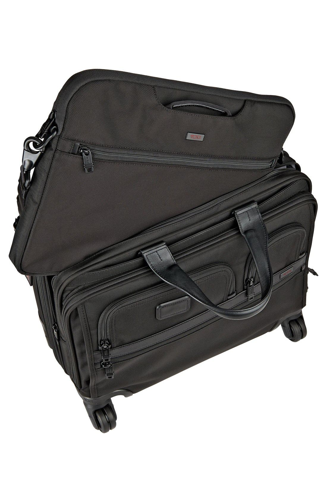 Alpha 2 Deluxe Wheeled Briefcase,                             Alternate thumbnail 2, color,                             BLACK