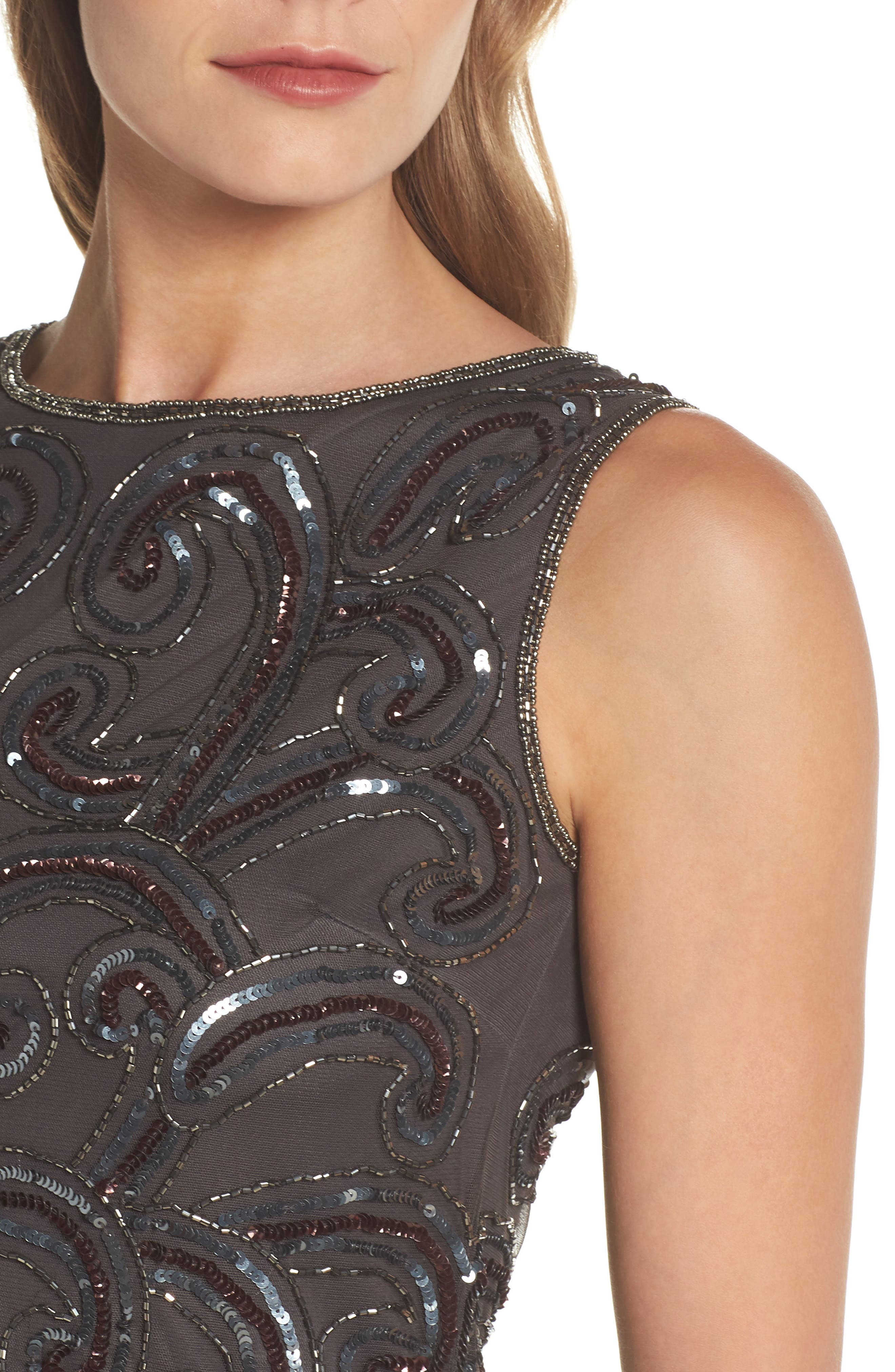 Embellished Sheath Dress,                             Alternate thumbnail 4, color,                             021