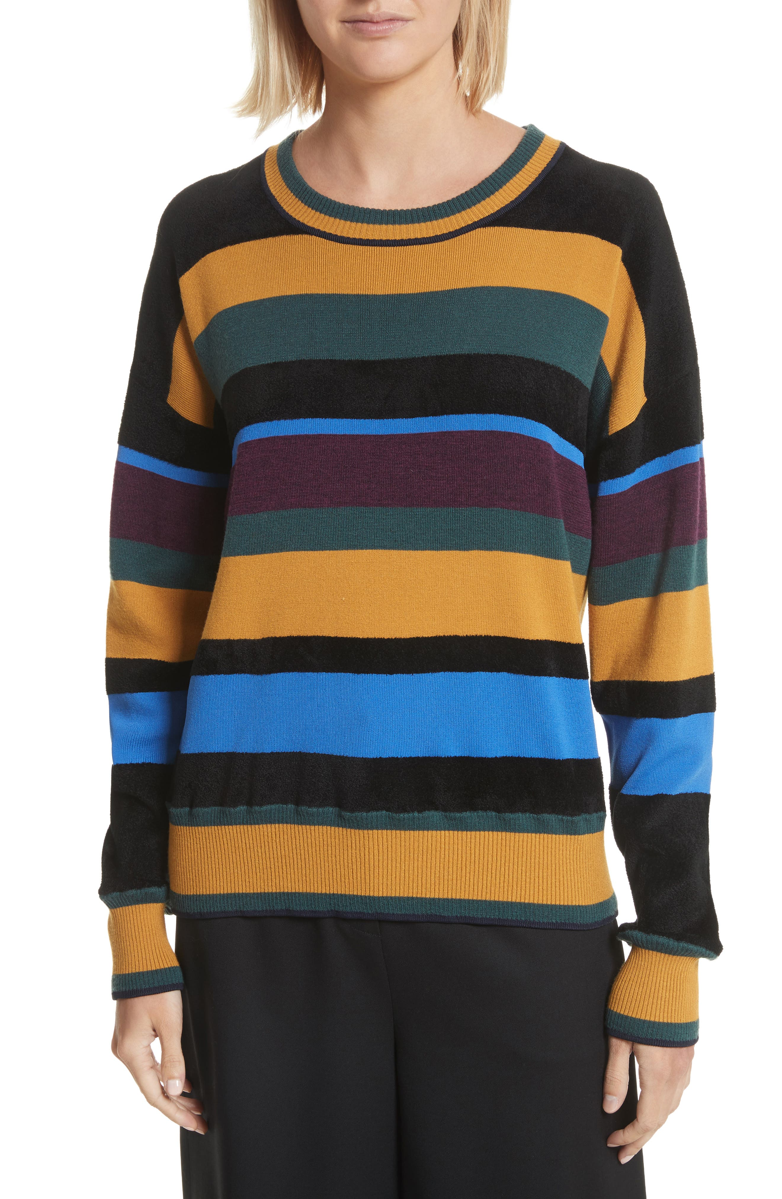 Chenille Stripe Sweater,                             Main thumbnail 1, color,                             459