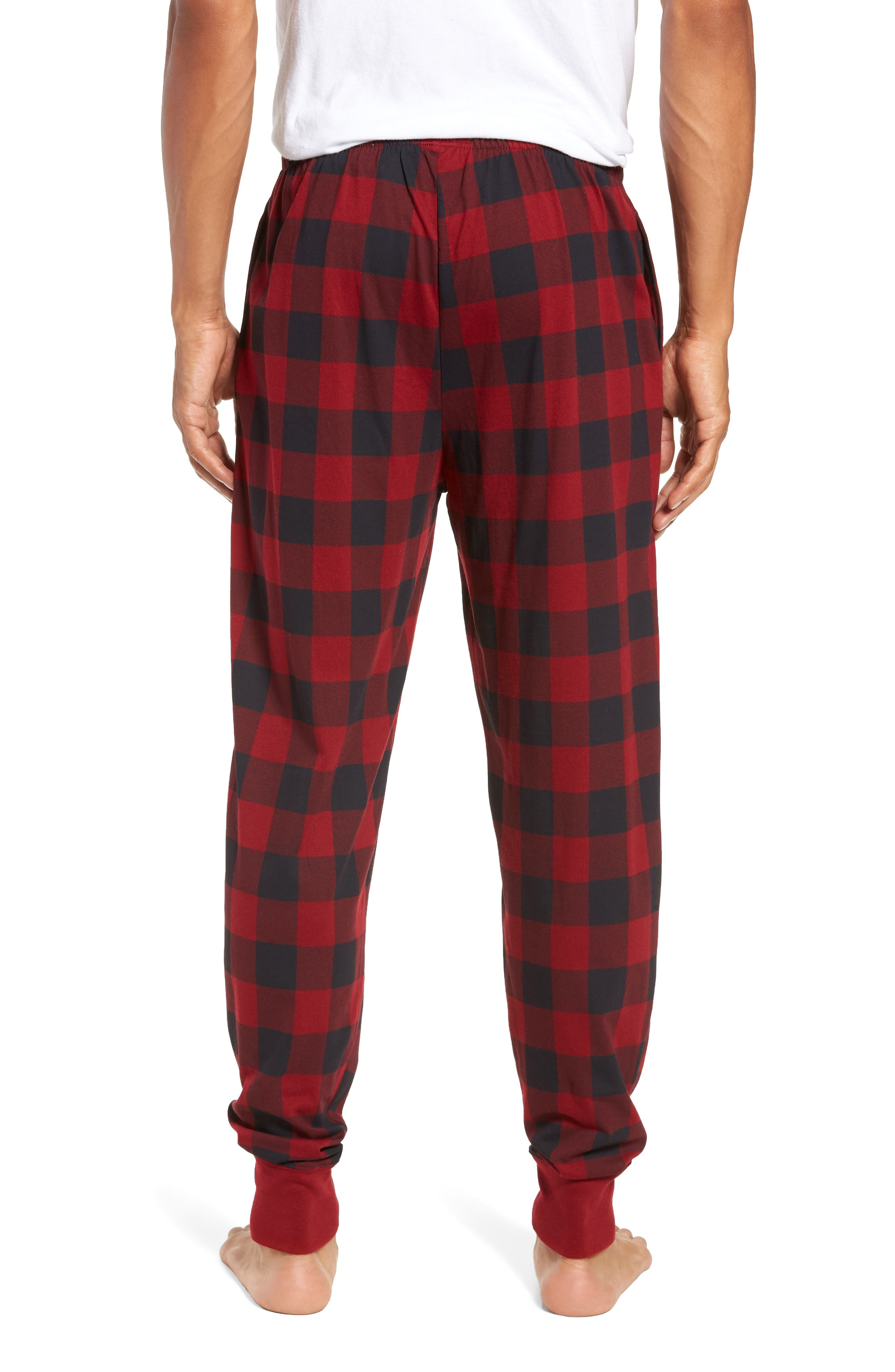 Cotton Lounge Pants,                             Alternate thumbnail 2, color,                             HOLIDAY RED