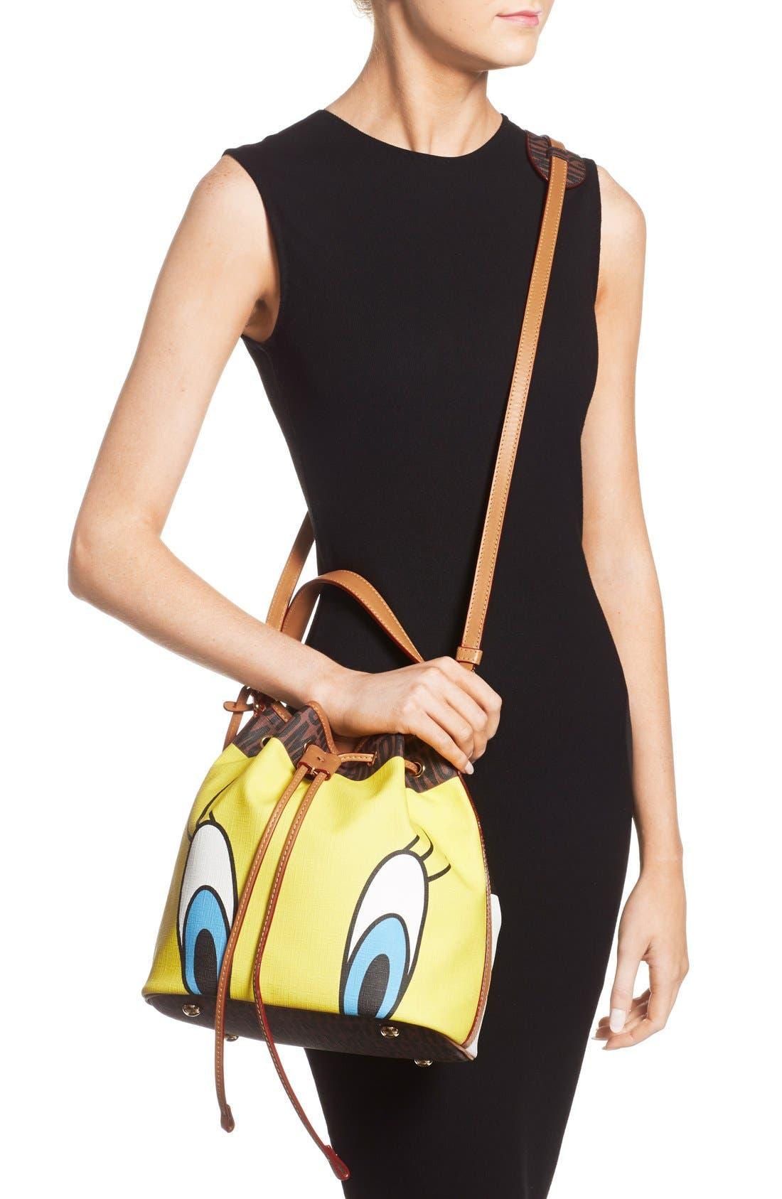 'LooneyTunes - Tweety& Sylvester' Bucket Bag,                             Alternate thumbnail 3, color,                             200