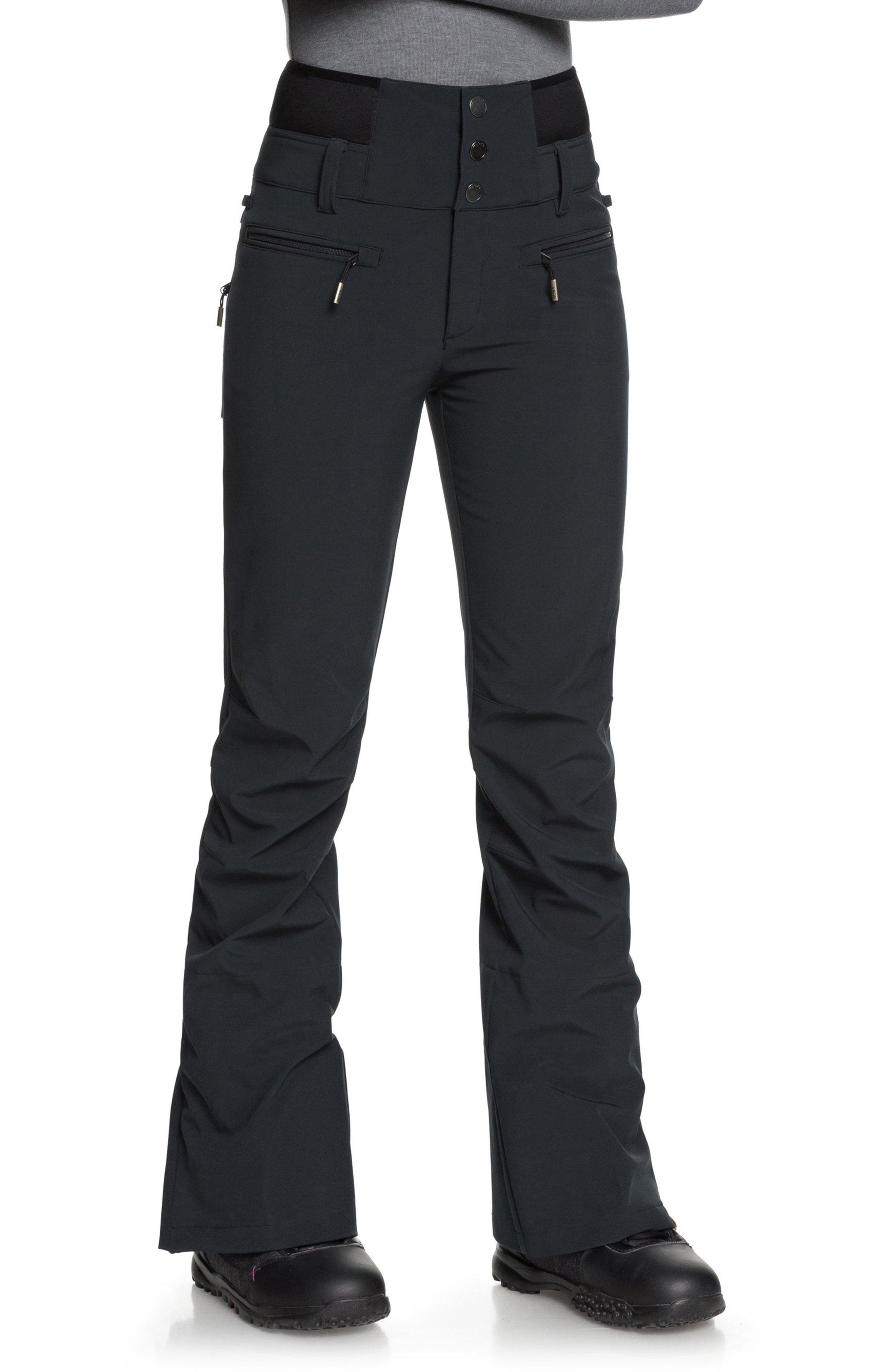 Rising High Snow Pants,                             Alternate thumbnail 3, color,                             TRUE BLACK