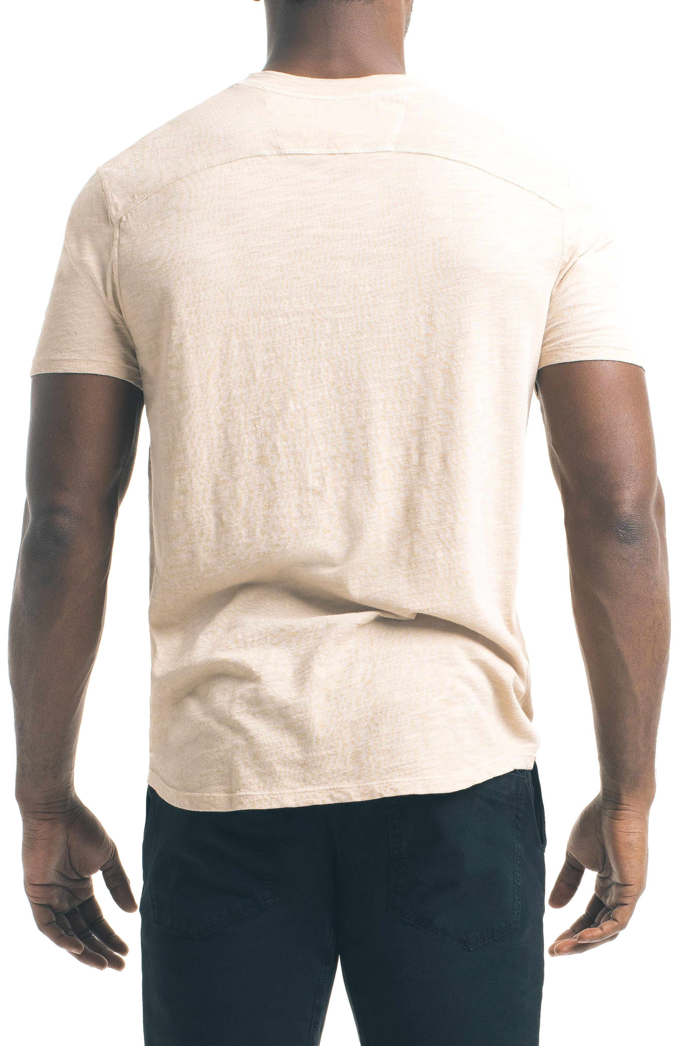 Short Sleeve Slub Henley,                             Alternate thumbnail 9, color,
