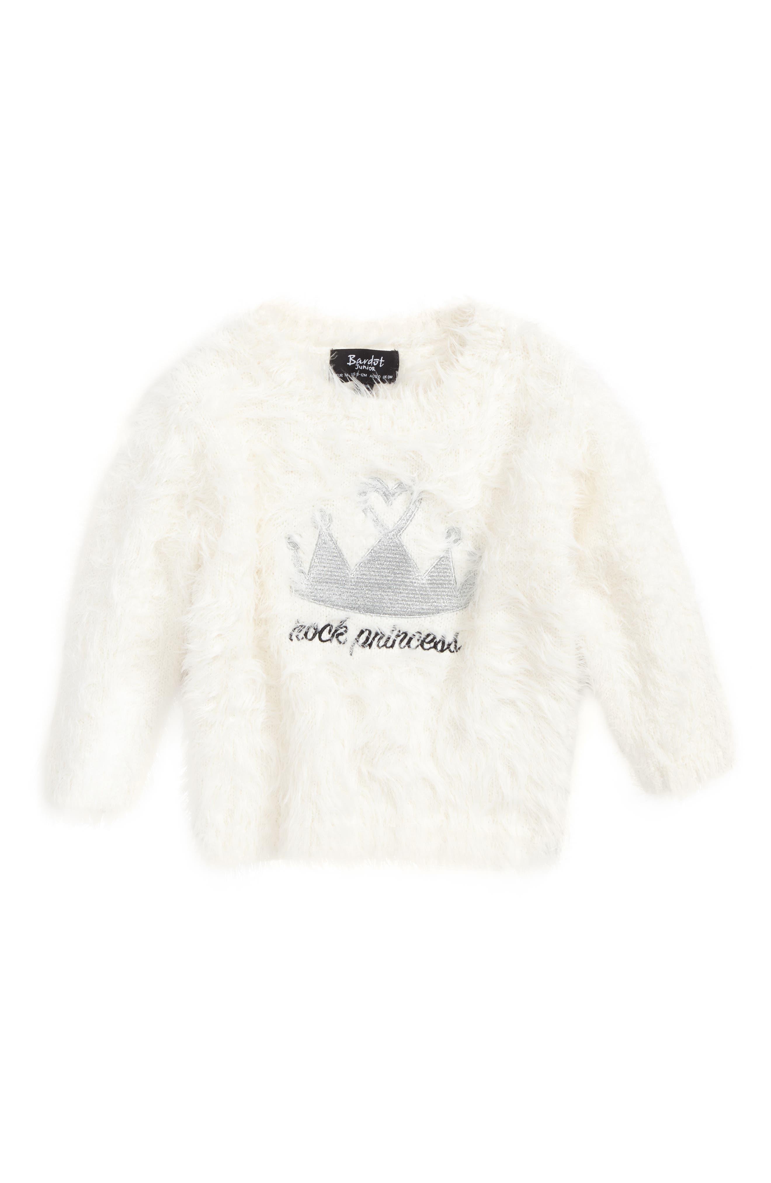 Rock Princess Fuzzy Sweater,                         Main,                         color,