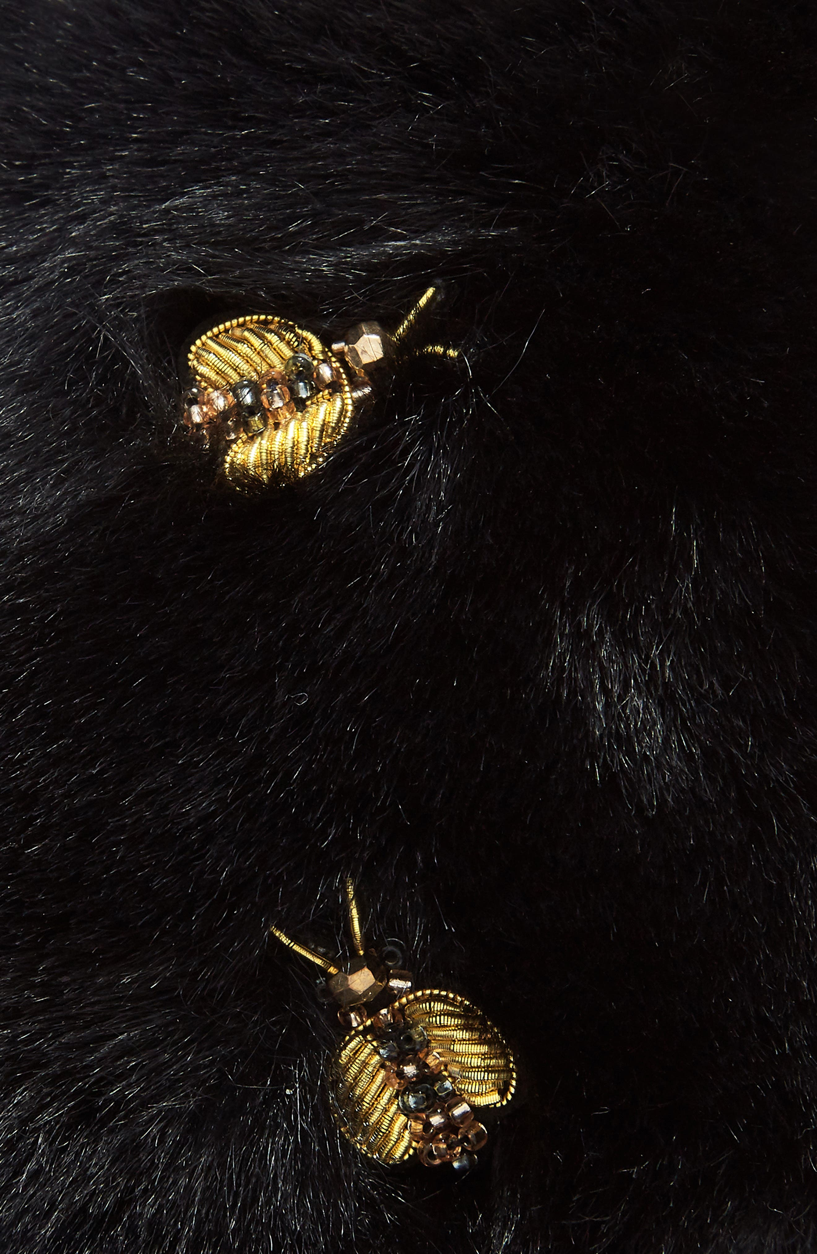 Bee Embellished Earmuffs,                             Alternate thumbnail 2, color,                             001
