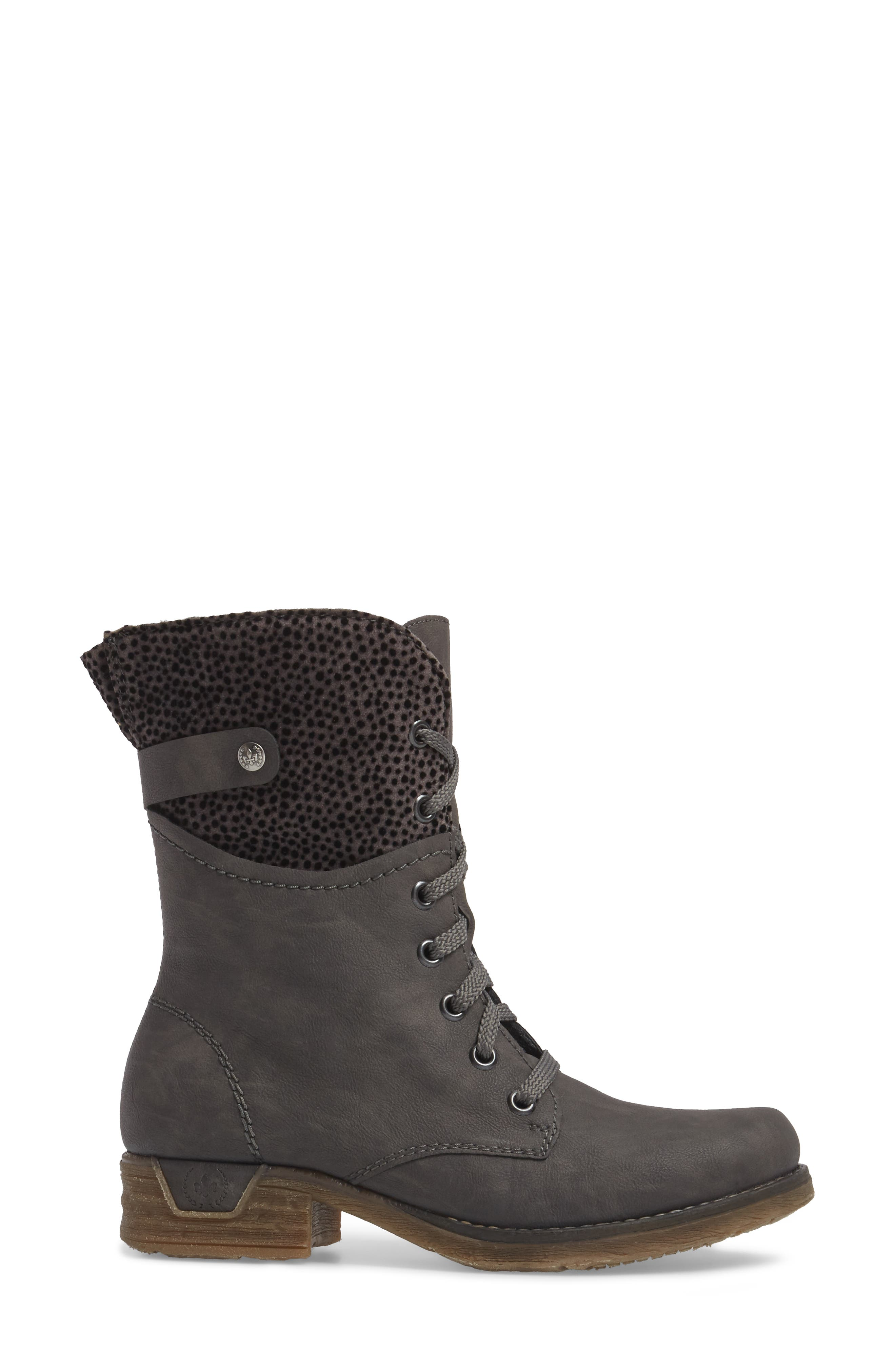 'Fee 04' Lace-Up Boot,                             Alternate thumbnail 3, color,                             FUMO FAUX LEATHER