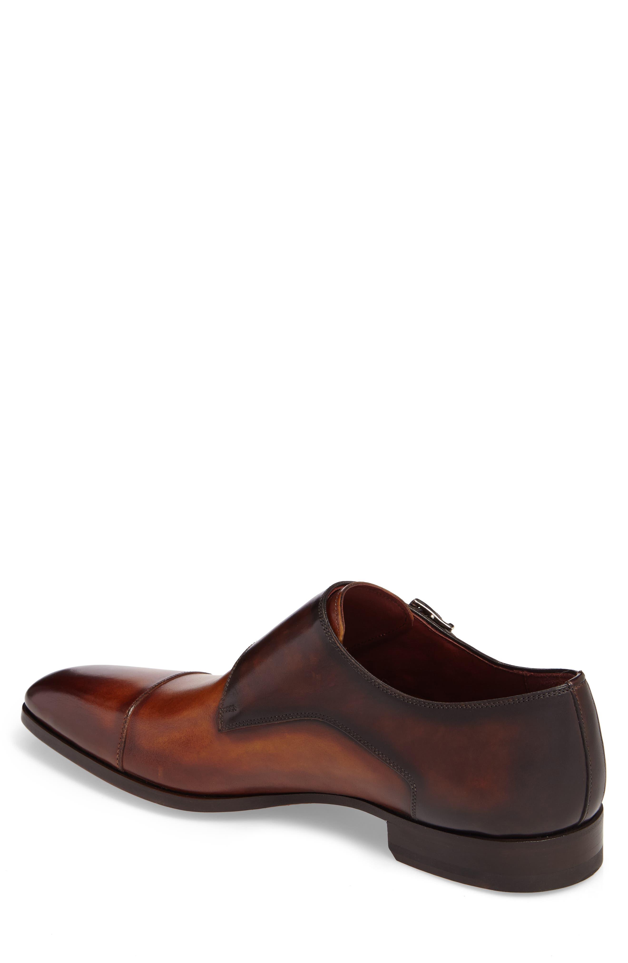 MAGNANNI,                             Ondara Double Monk Strap Shoe,                             Alternate thumbnail 2, color,                             CUERO/ BROWN LEATHER