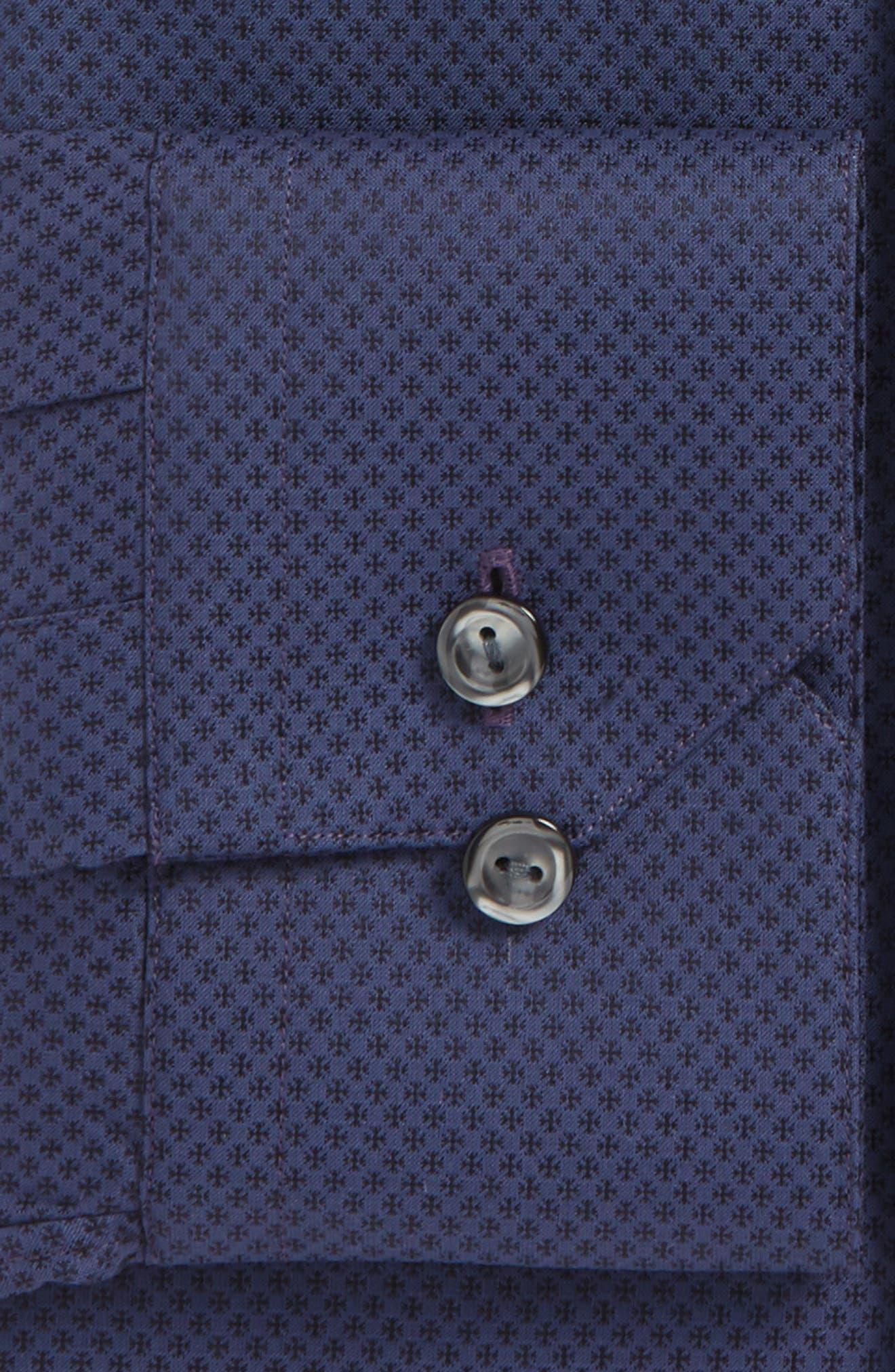 Slim Fit Print Dress Shirt,                             Alternate thumbnail 2, color,                             400