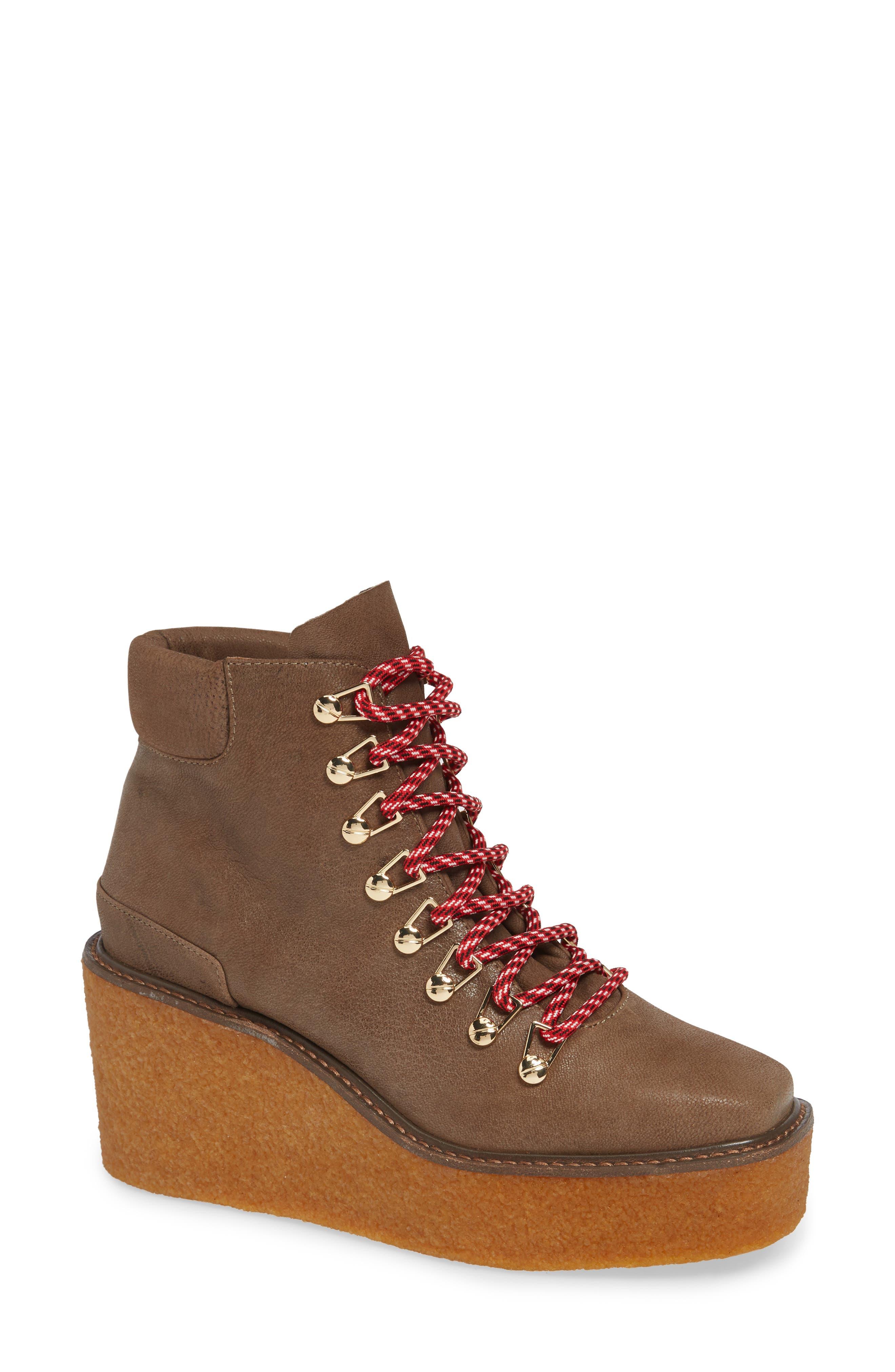 Helga Platform Wedge Sneaker in Natural