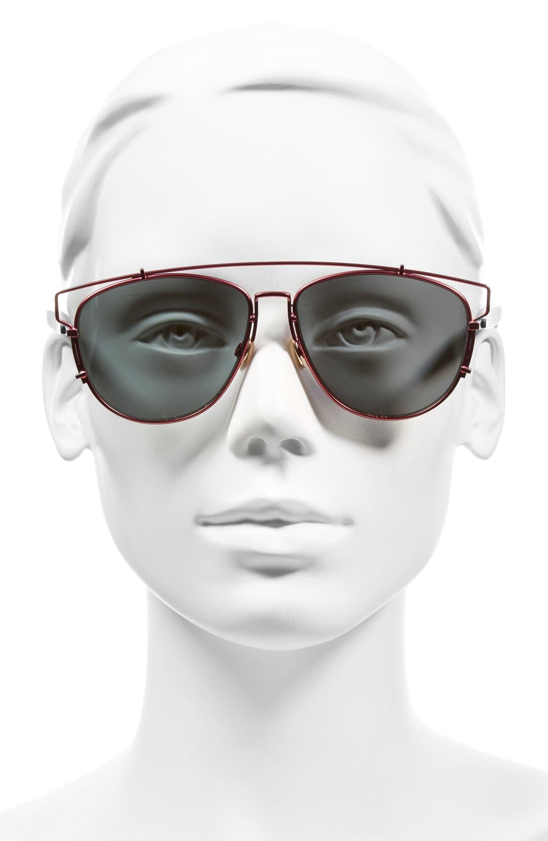 Technologic 57mm Brow Bar Sunglasses,                             Alternate thumbnail 25, color,