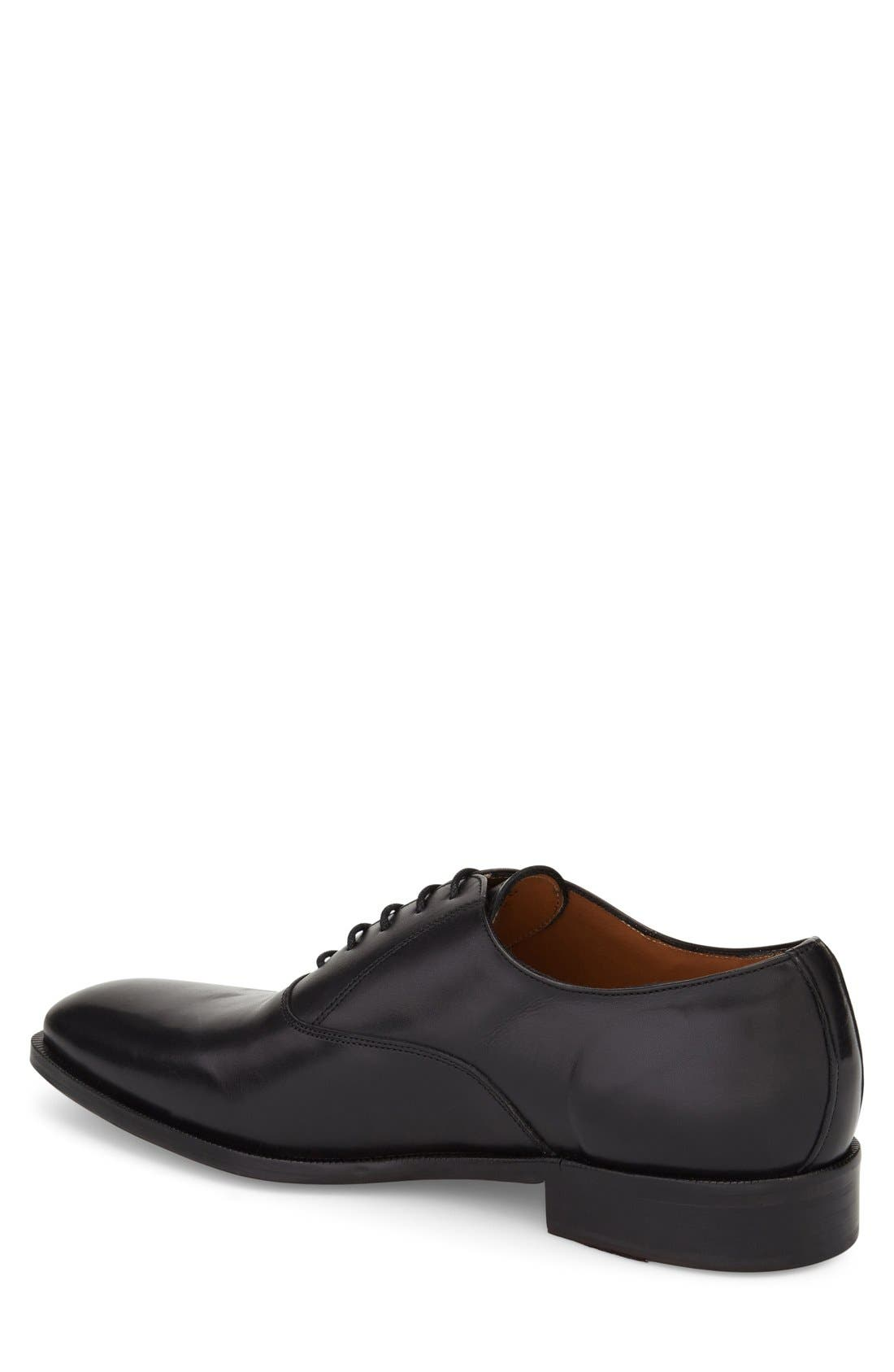 Top Coat Plain Toe Oxford,                             Alternate thumbnail 3, color,                             001