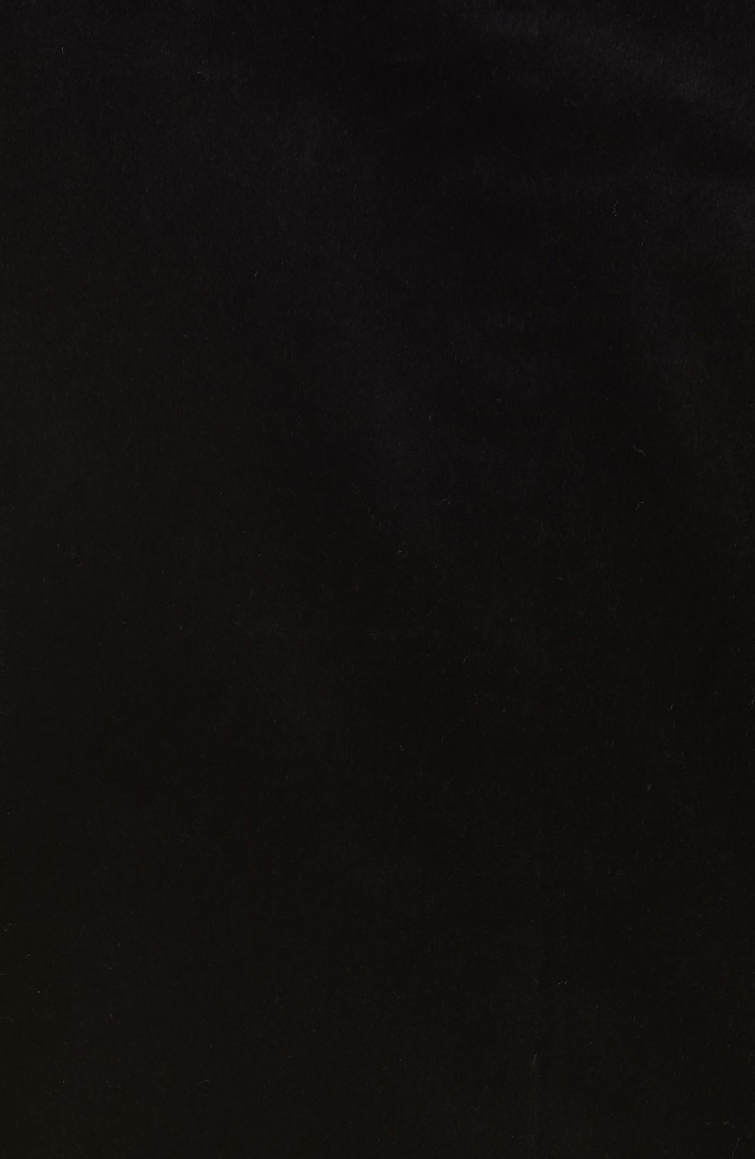 Stretch Velvet Power Jacket,                             Alternate thumbnail 6, color,                             BLACK