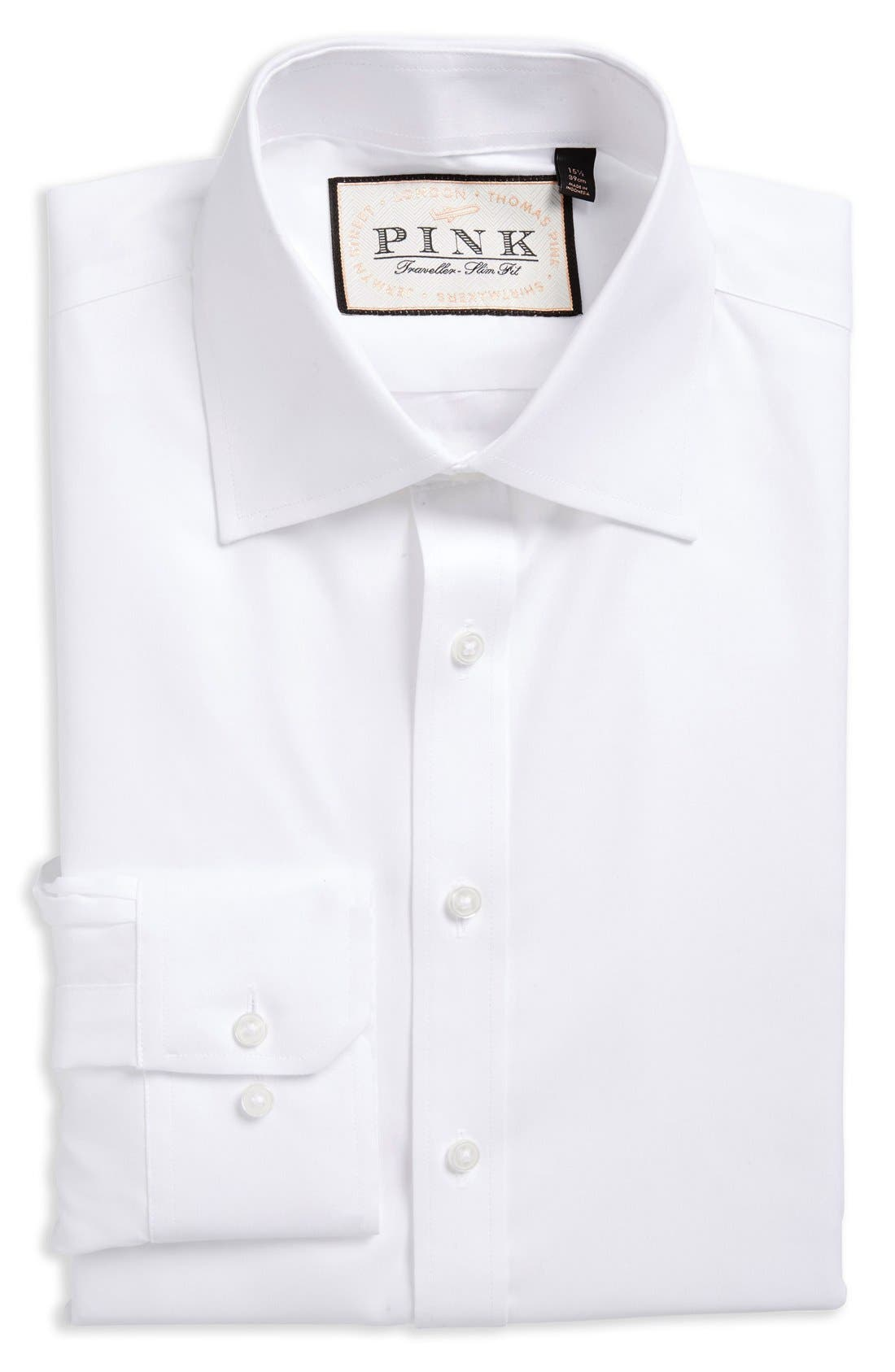 Slim Fit Dress Shirt,                         Main,                         color, 100