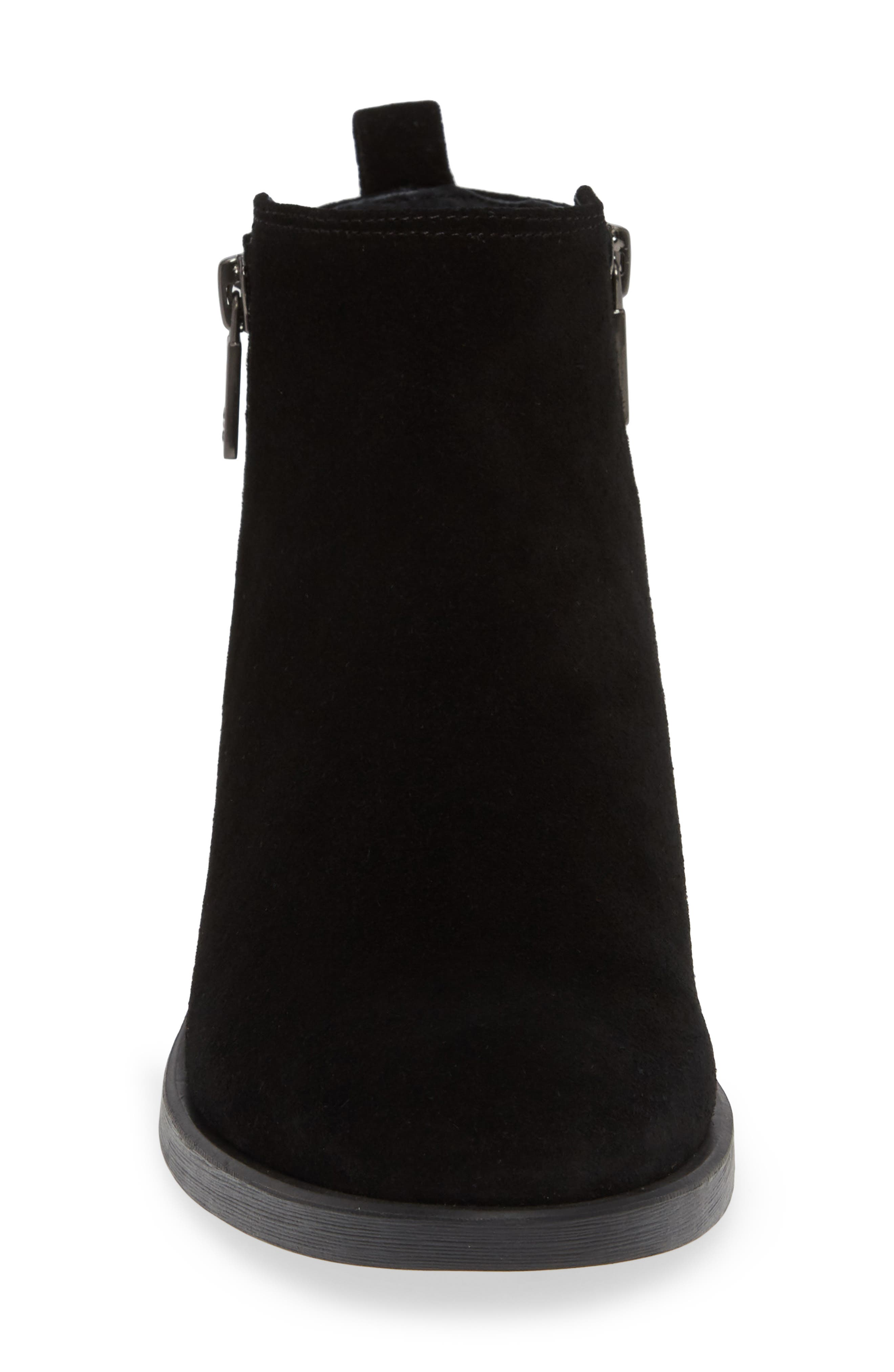 'Levon' Bootie,                             Alternate thumbnail 4, color,                             BLACK SUEDE