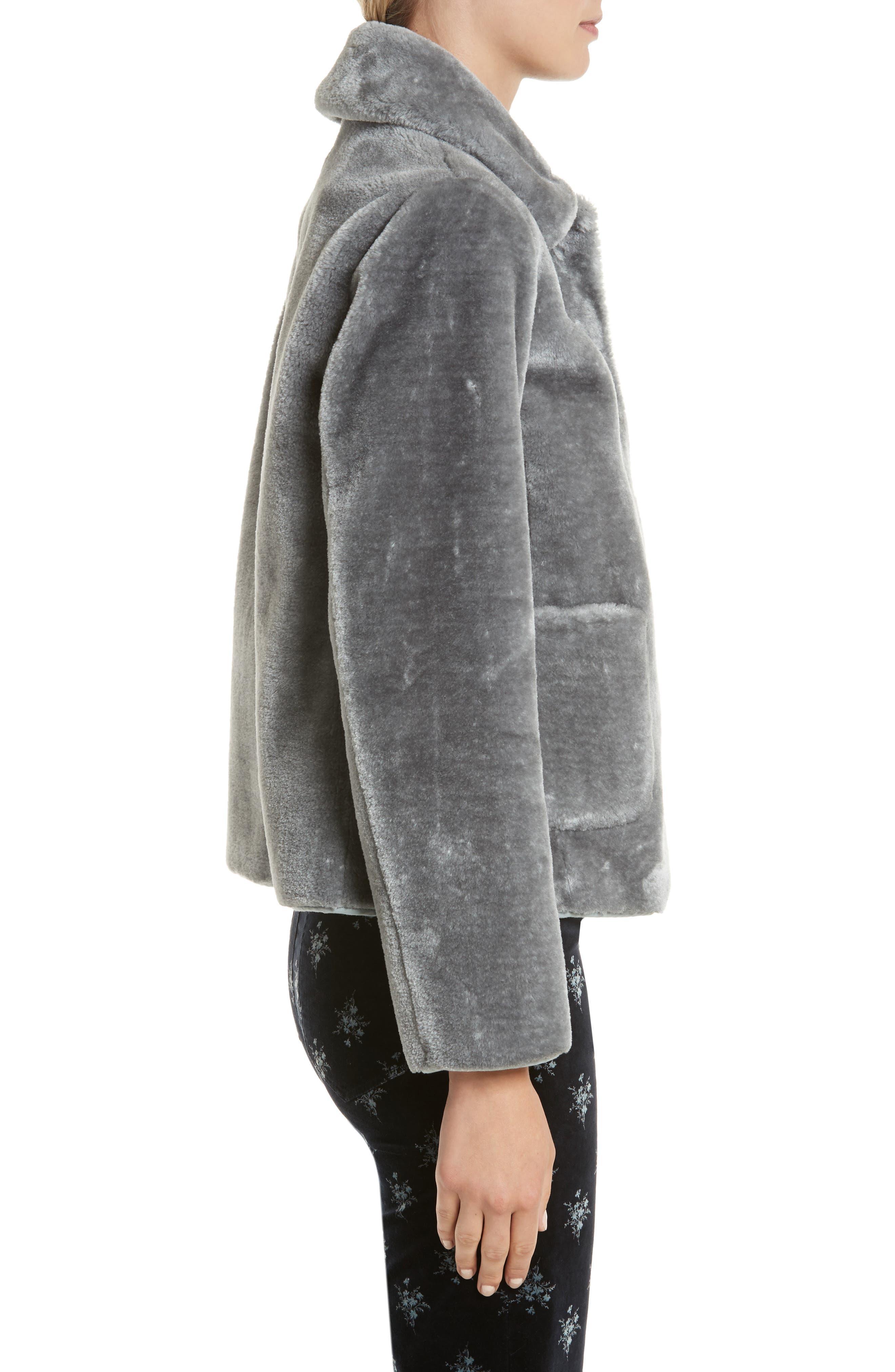 Faux Fur Jacket,                             Alternate thumbnail 3, color,                             063