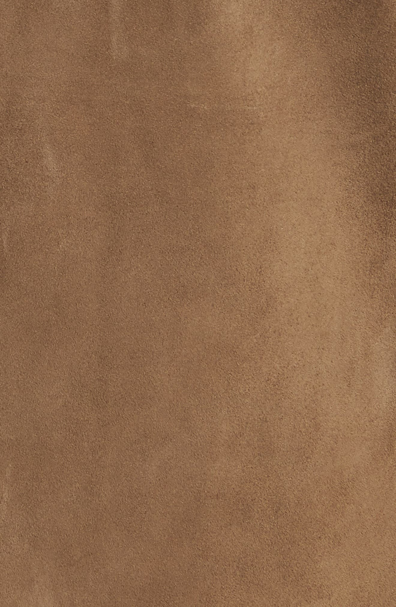 The Greta Fringe Suede Jacket,                             Alternate thumbnail 6, color,                             251