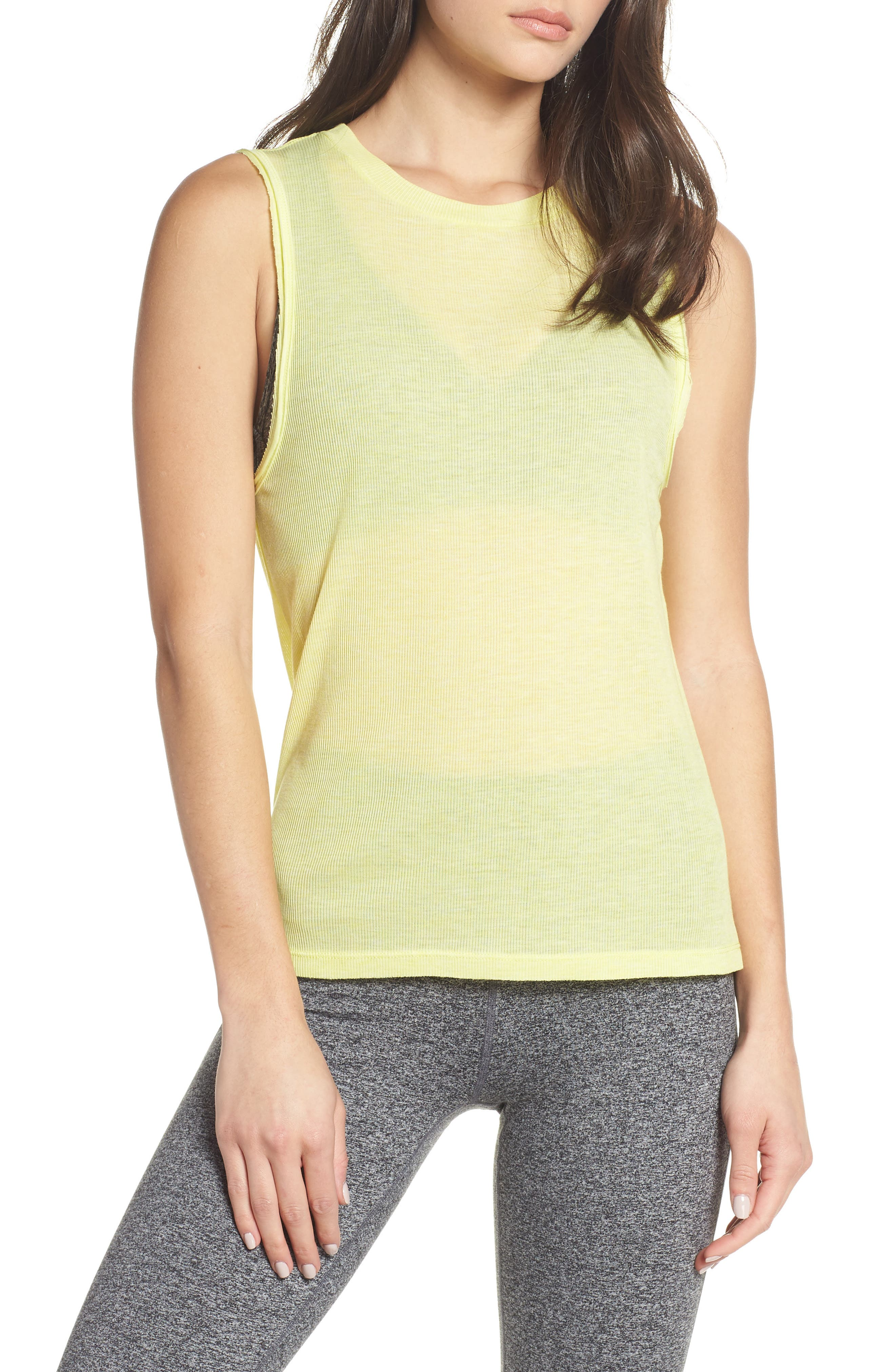 FREE PEOPLE MOVEMENT,                             Om Tank,                             Main thumbnail 1, color,                             LIME