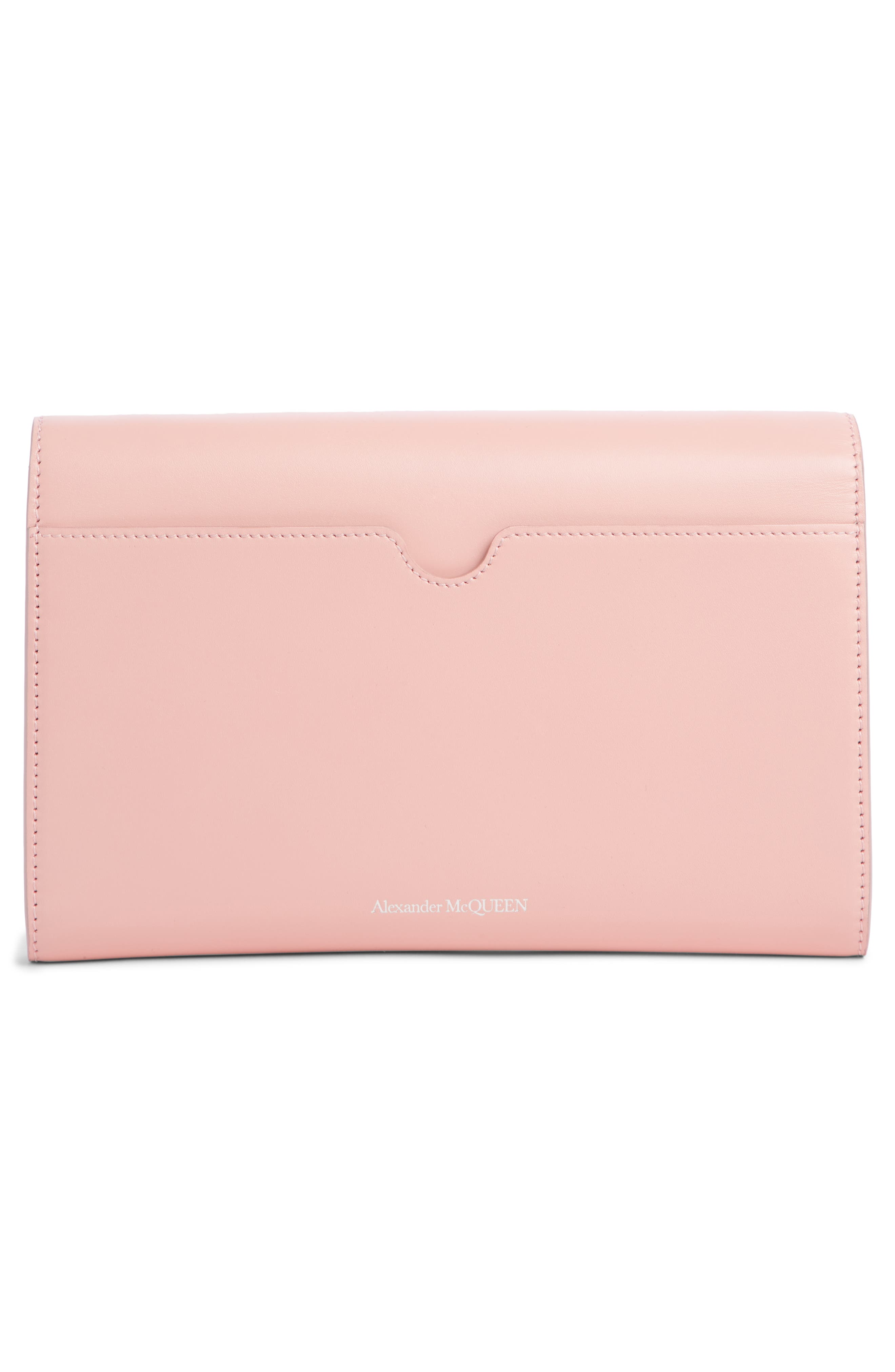 Pin Calfskin Wallet on a Chain,                             Alternate thumbnail 3, color,                             ANEMONE