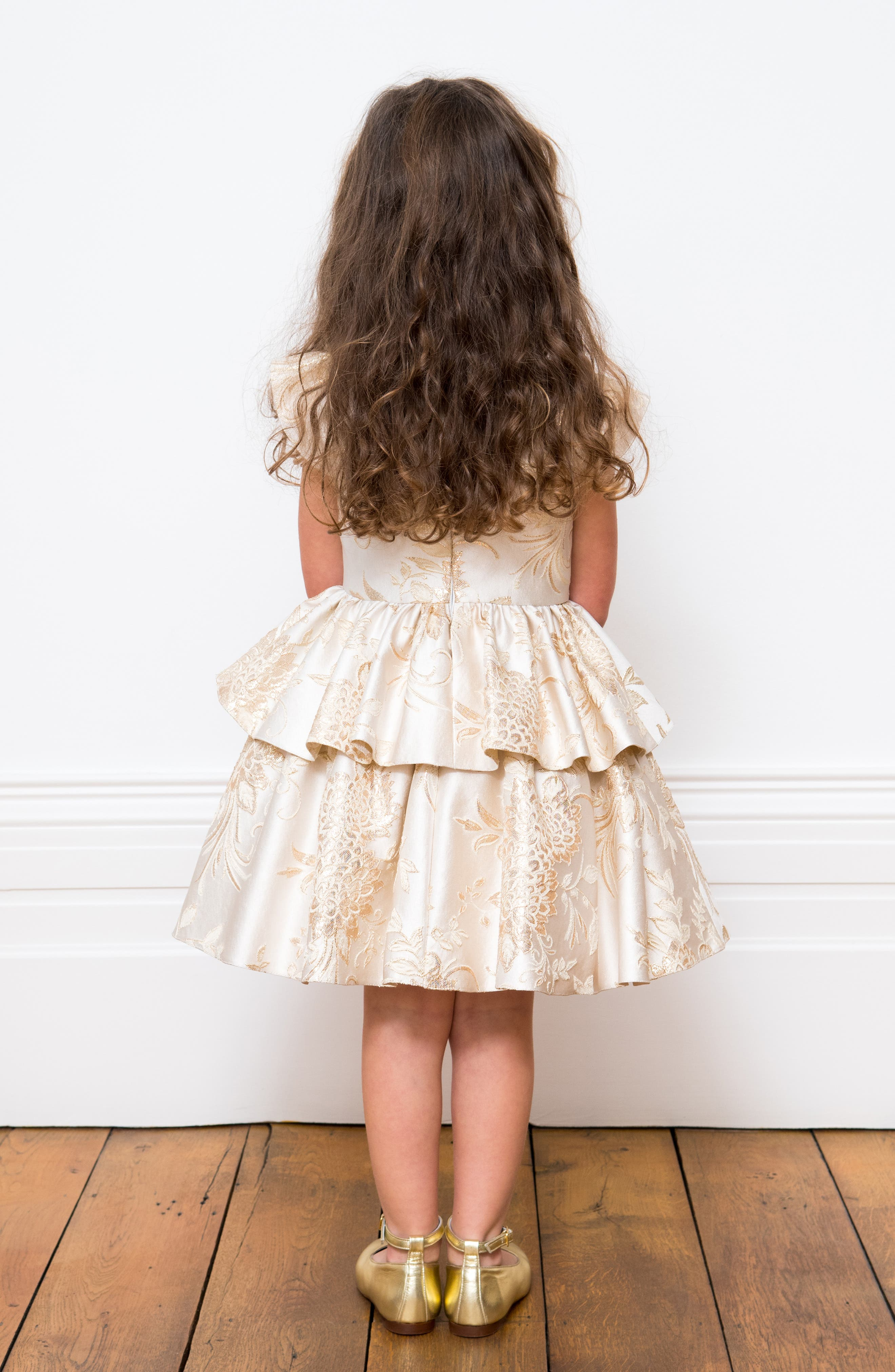 Brocade Dress,                             Alternate thumbnail 4, color,                             900