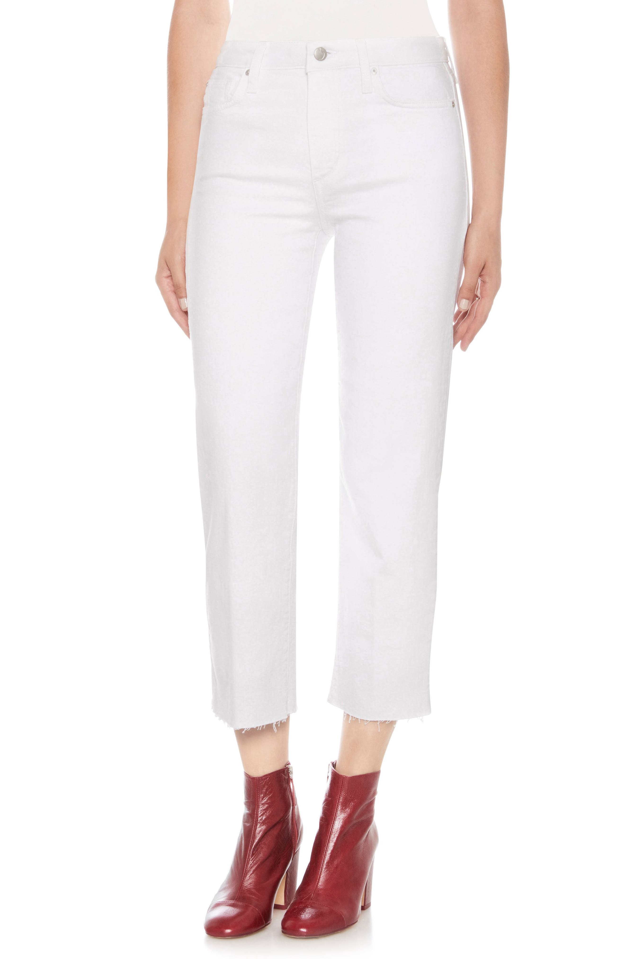 The Wyatt Crop Straight Leg Jeans,                         Main,                         color, 100