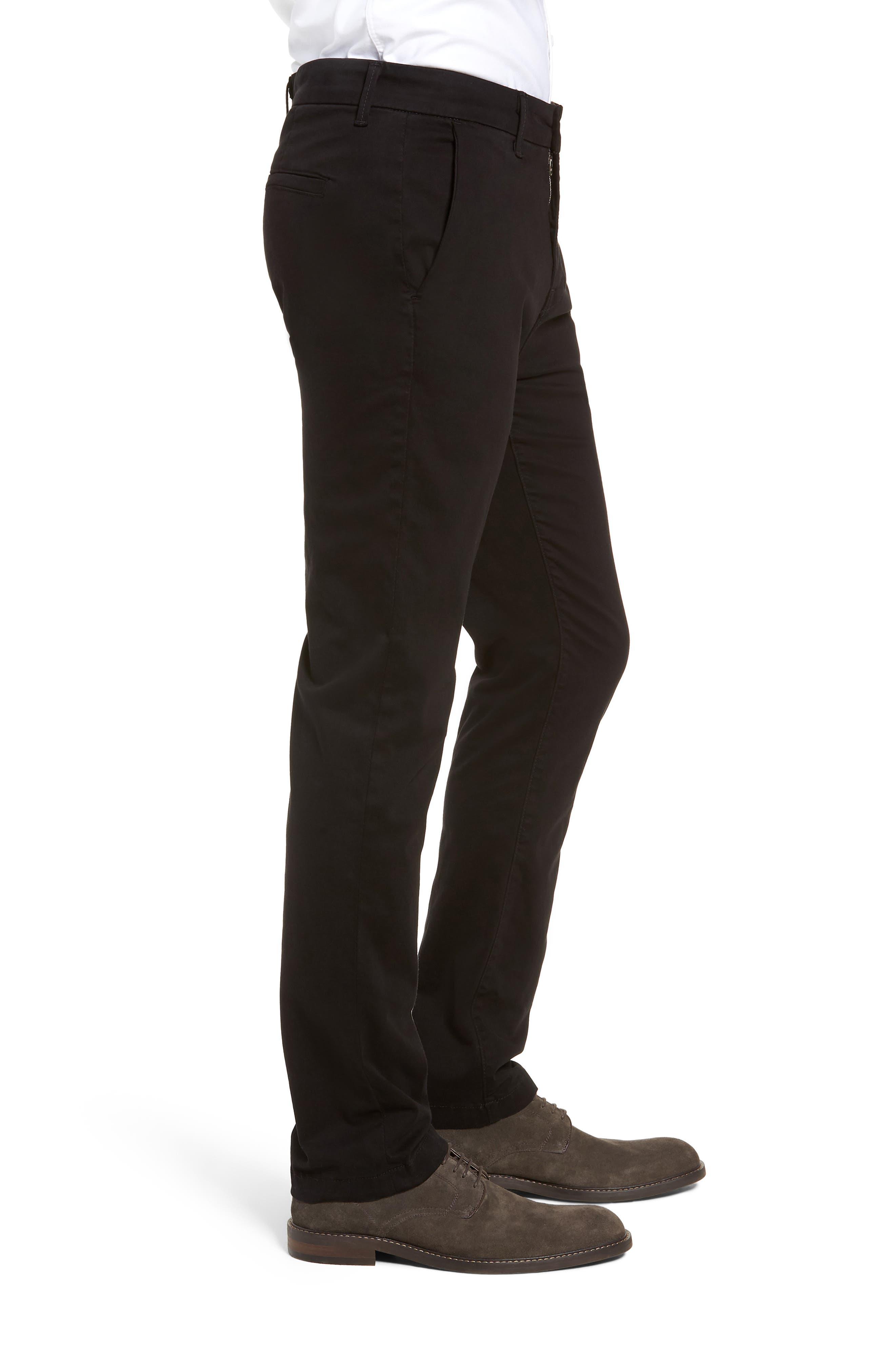FIDELITY DENIM,                             Weekend Slim Fit Chino Pants,                             Alternate thumbnail 3, color,                             001