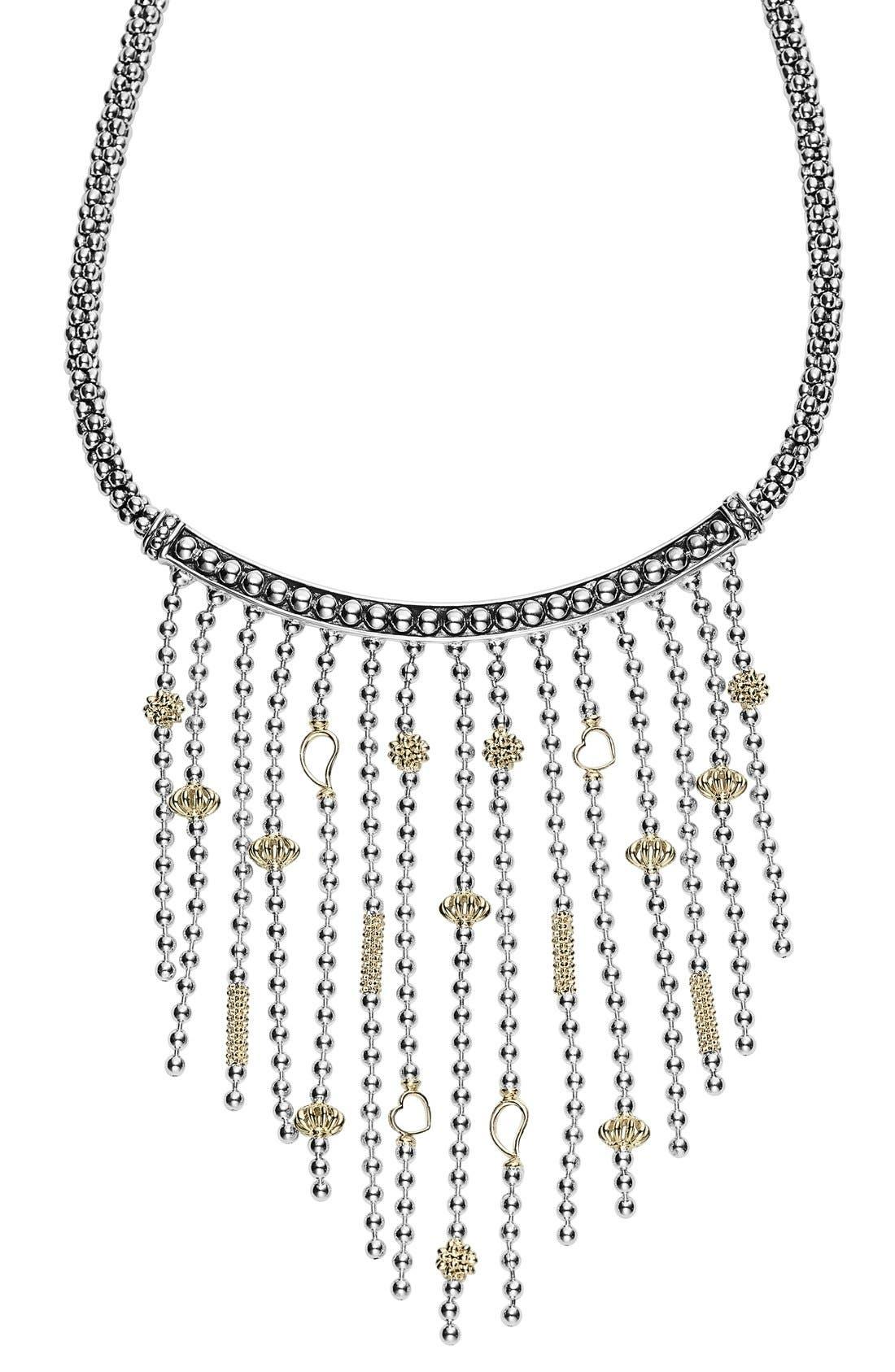 'Caviar Icon' Rope Bib Necklace,                             Main thumbnail 1, color,                             041