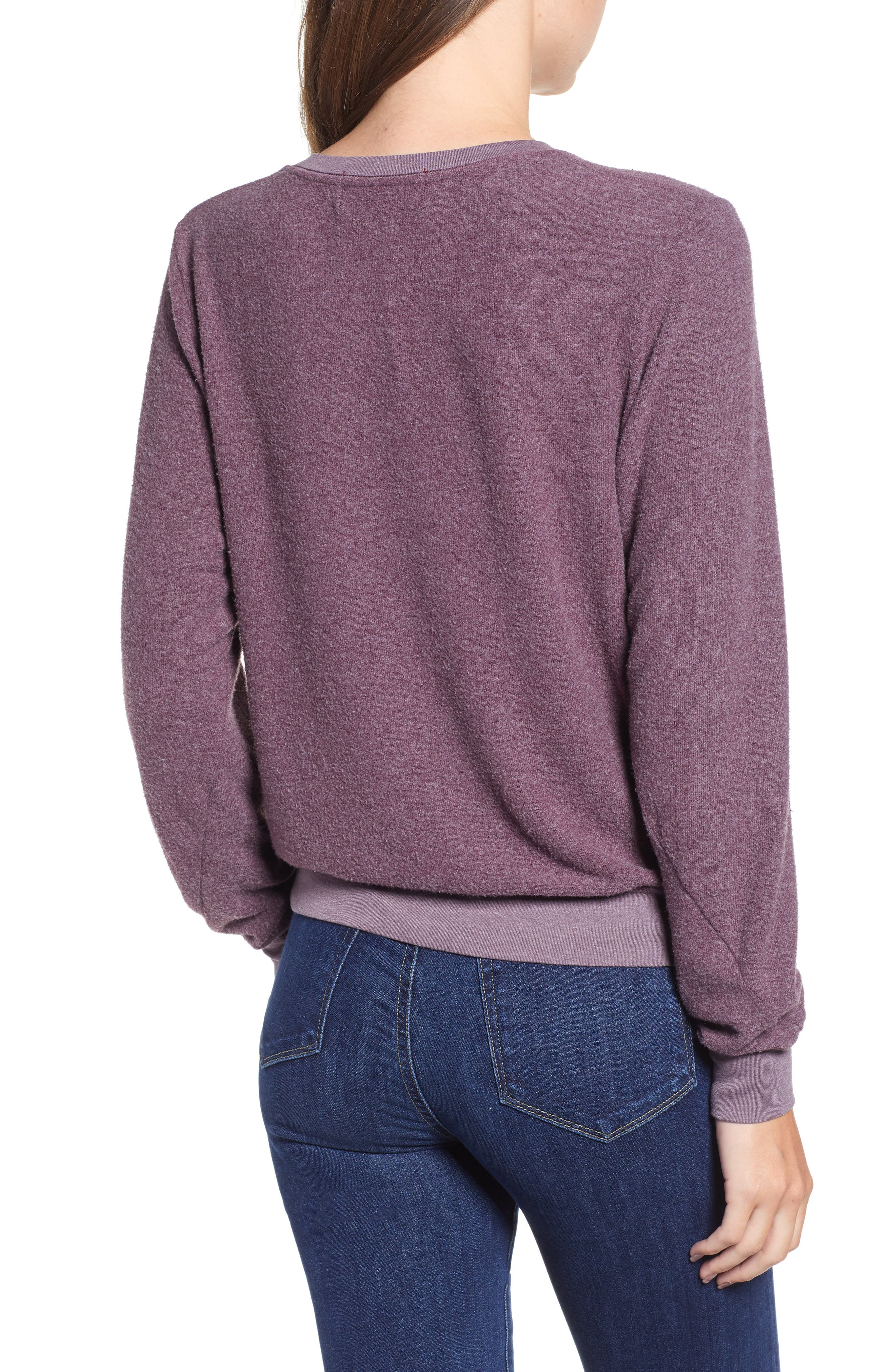 Ready For Bed Baggy Beach Jumper Sweatshirt,                             Alternate thumbnail 2, color,                             CRUSHED BERRY